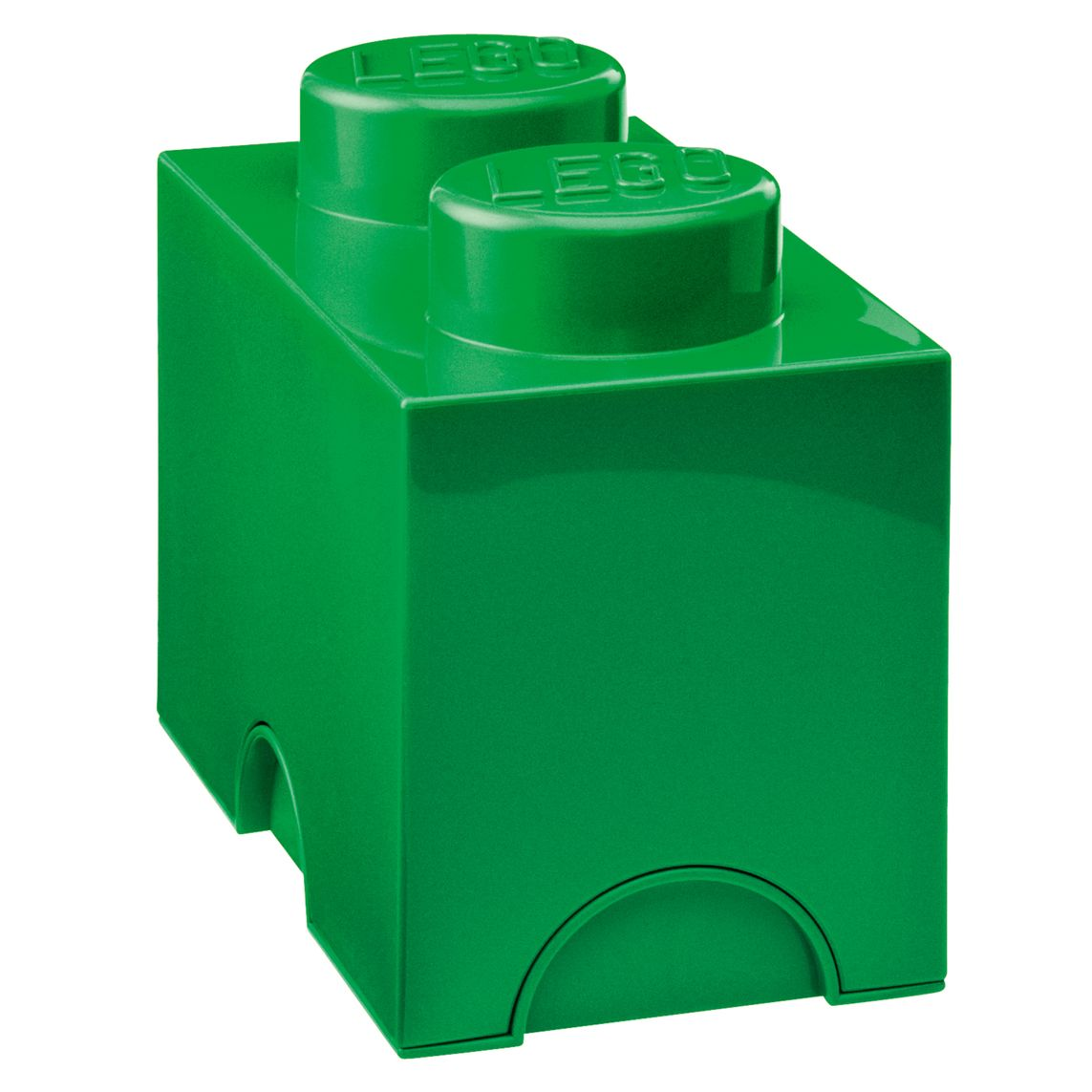 Lego 2 Stud Storage Brick, Green