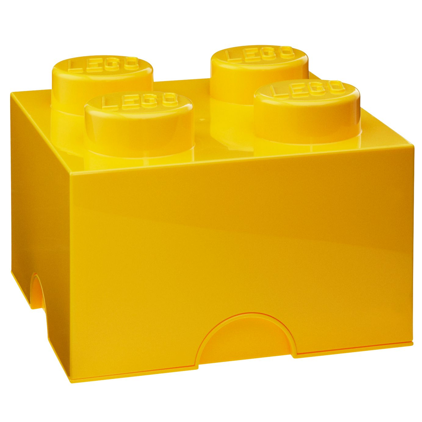 Lego 4 Stud Storage Brick, Yellow