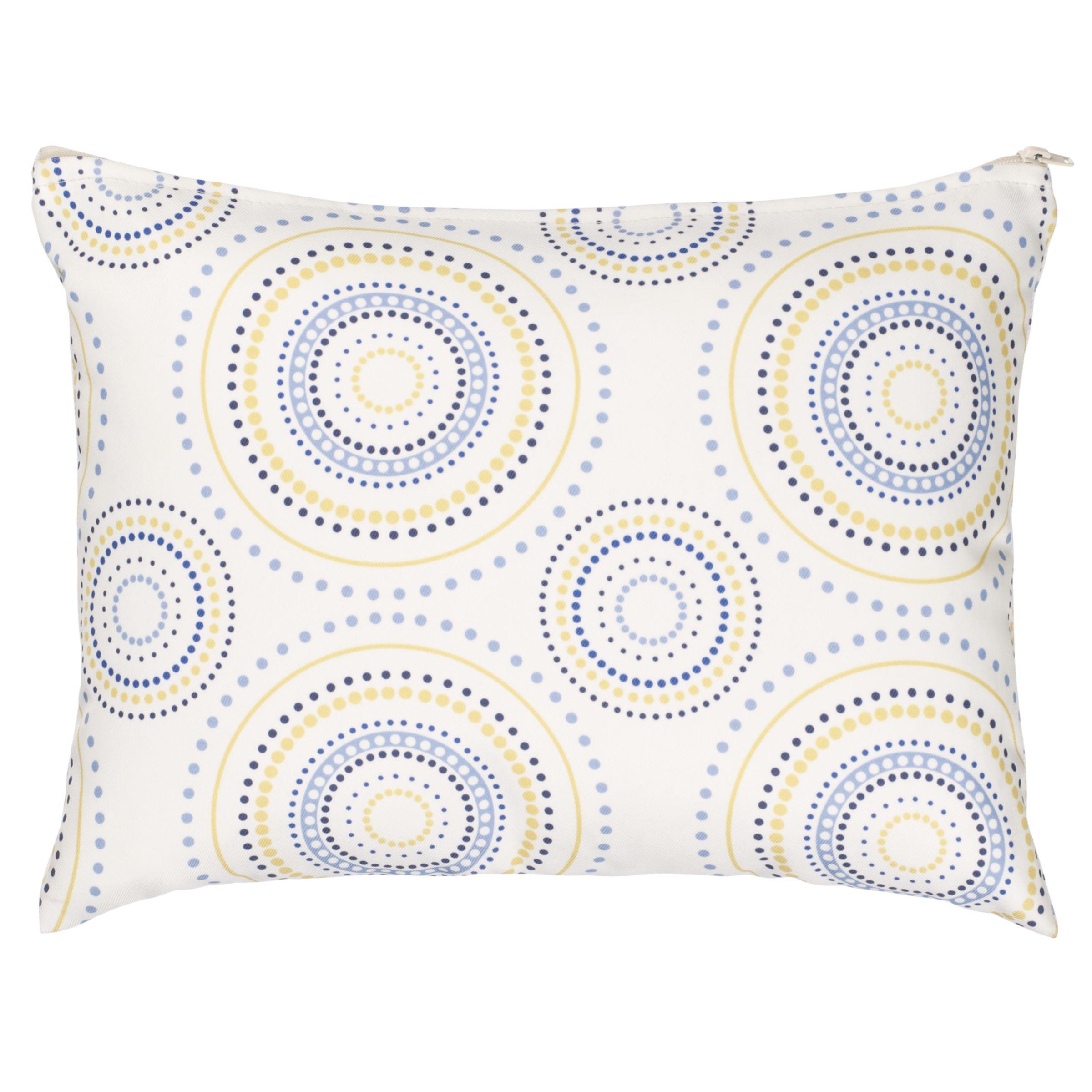 Rectangular Scatter Cushion, Solaris Circles