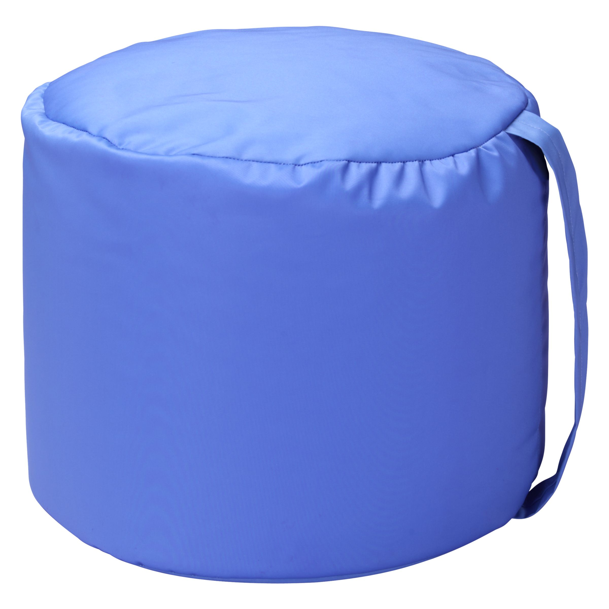 John Lewis Carry Handle Pouffe, Lapis