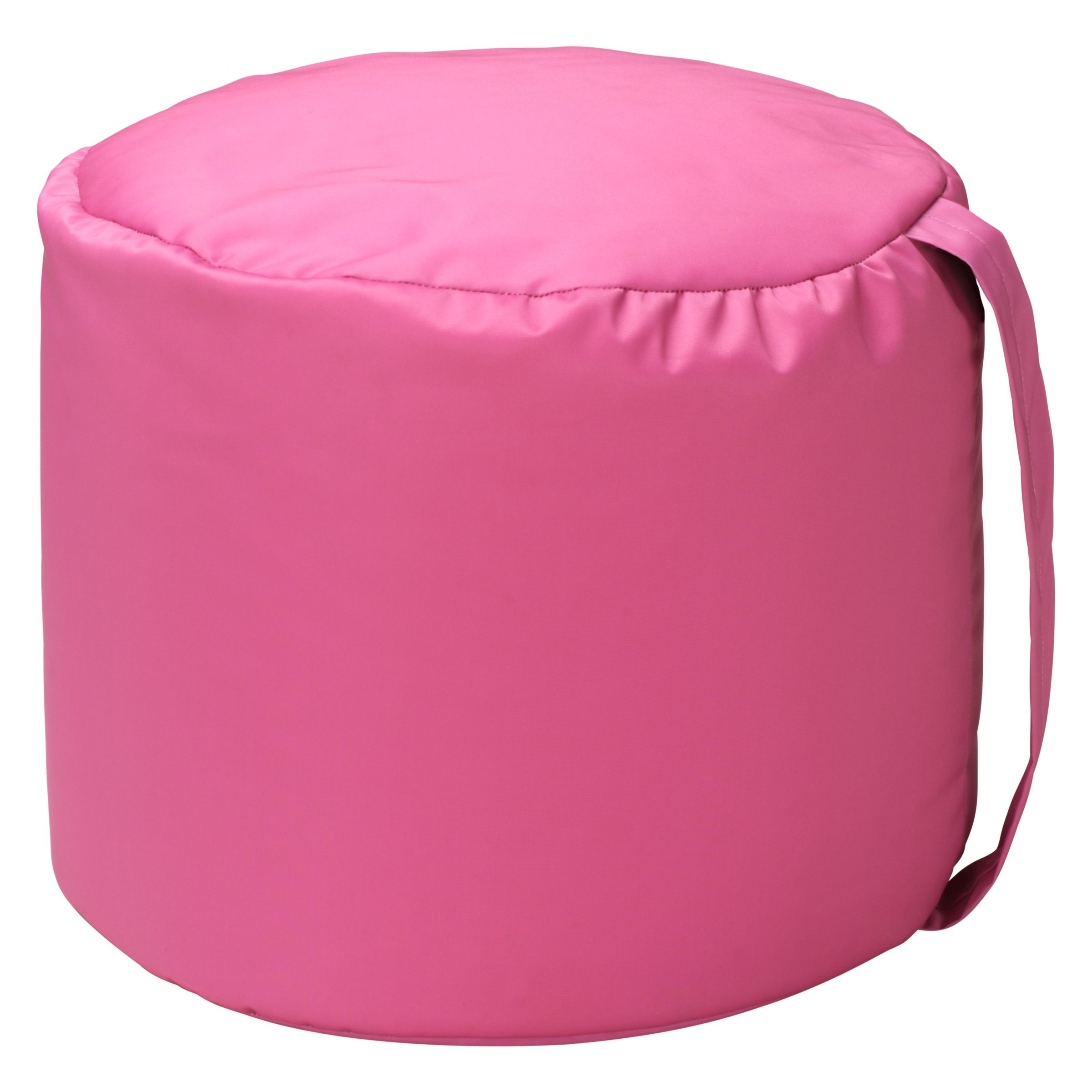 John Lewis Carry Handle Pouffe, Pink