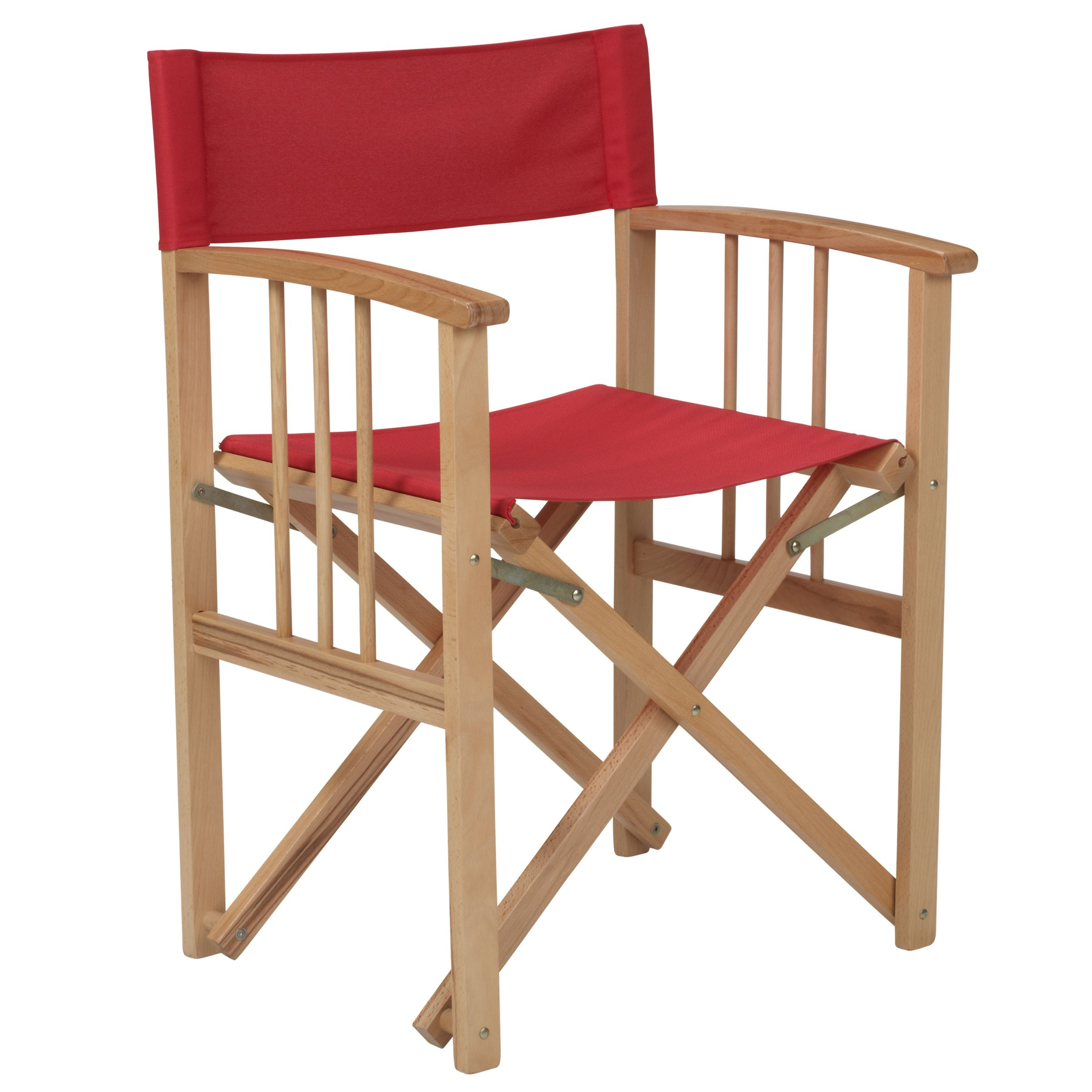 John Lewis Director's Chair, Chilli, Set of 2