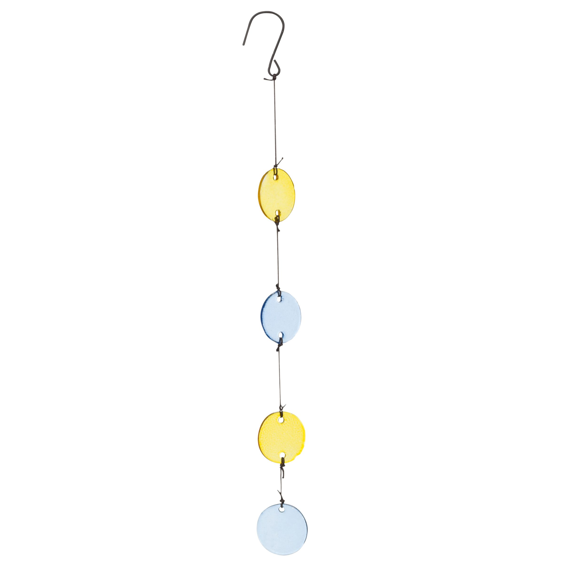 Hanging Discs Citrine / Lapis
