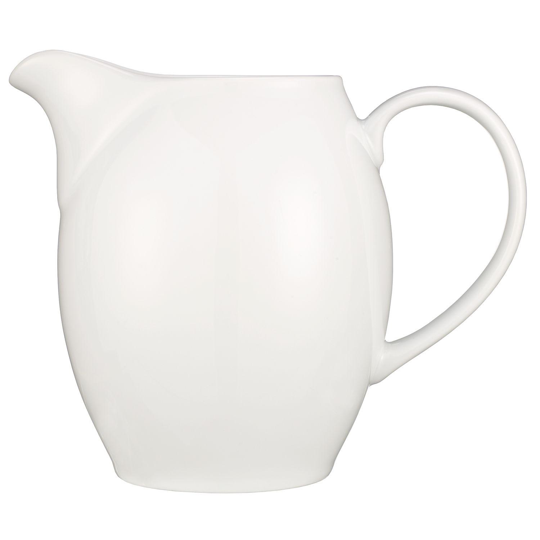 John Lewis House Porcelain Rounded Jug, White, 1L