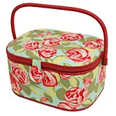 John Lewis Tumble Roses Sewing Basket, Large