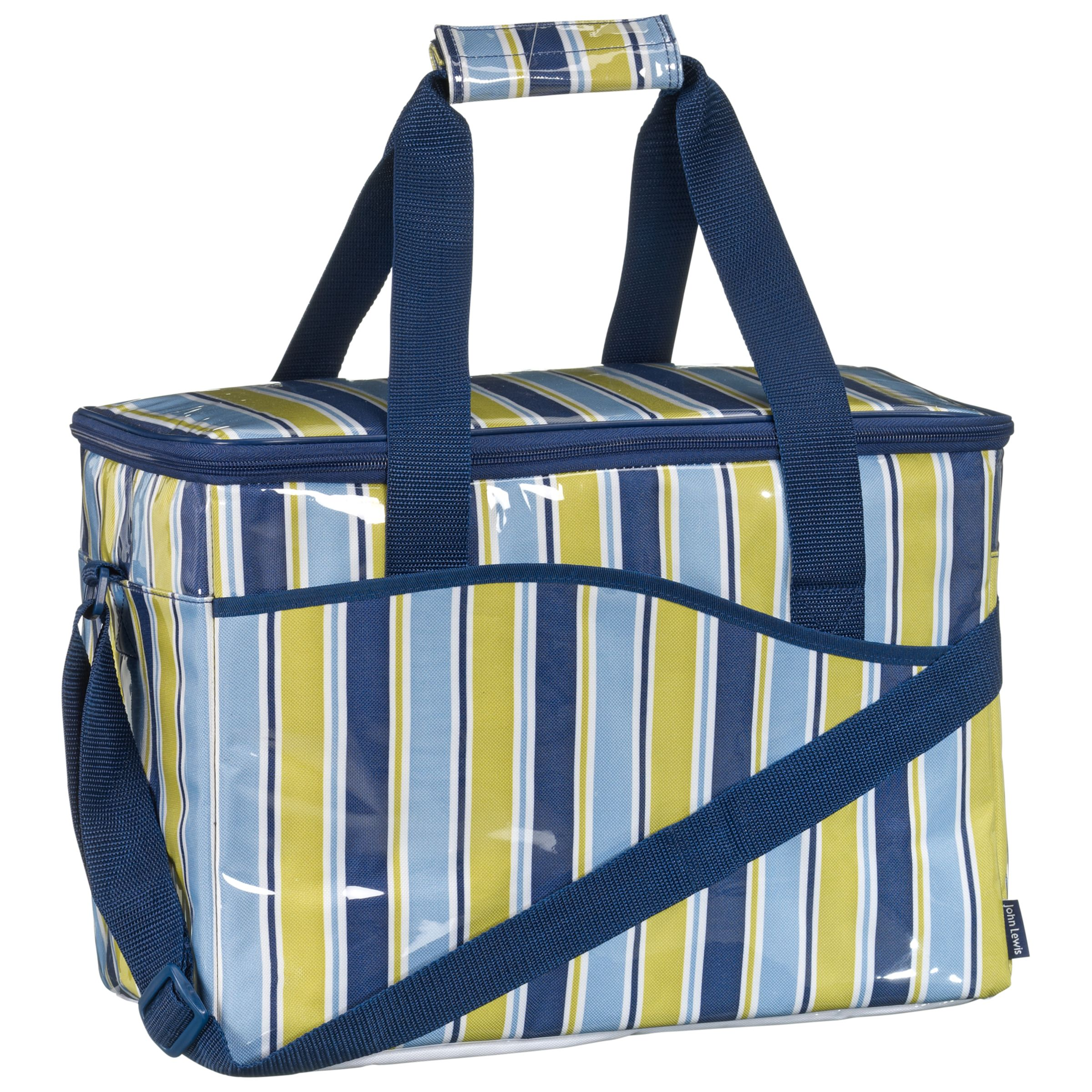 John Lewis Woodland Stripe Coolbag, Large