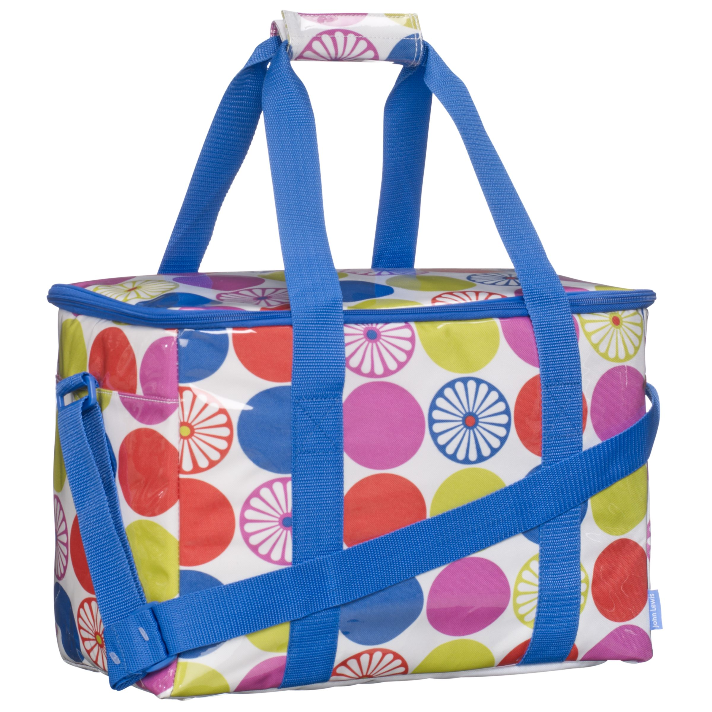 John Lewis Bright Dot Coolbag, Large