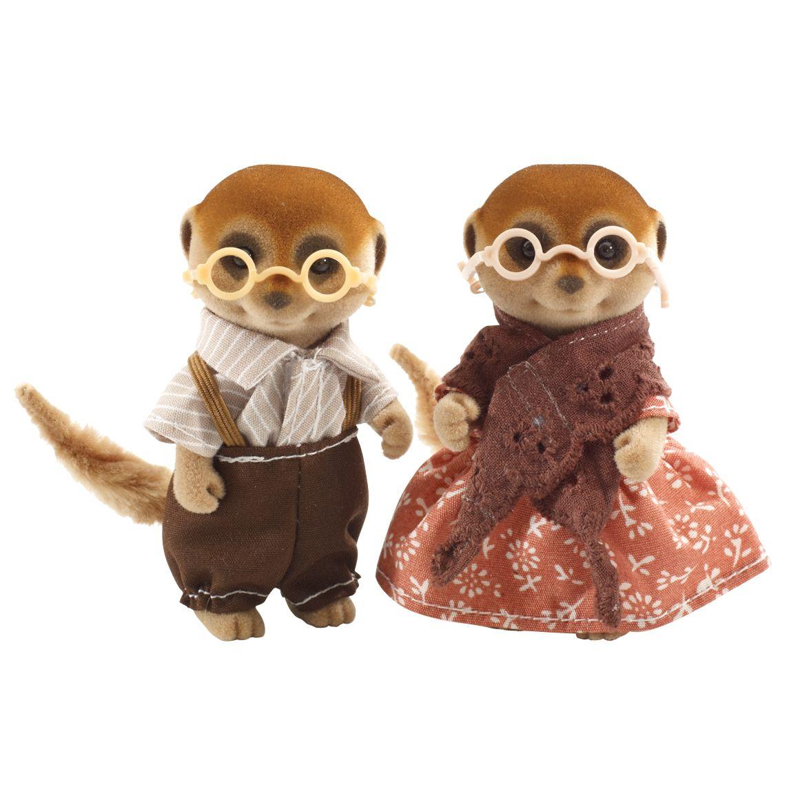 Sylvanian Families Spotter Meerkat Family Grandparents