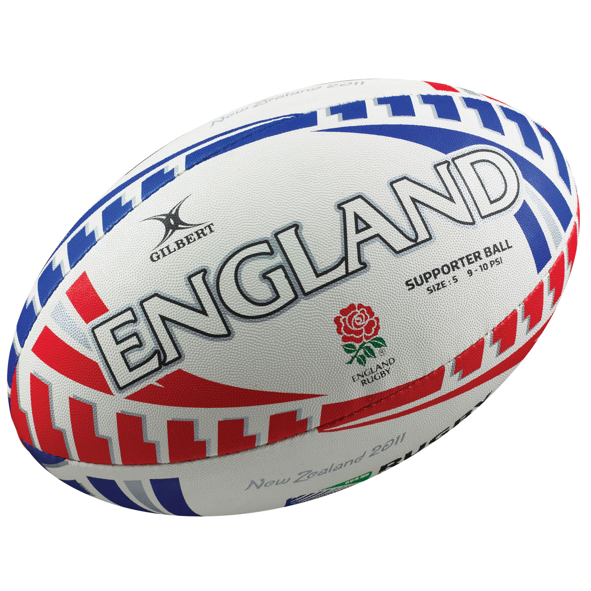 Gilbert Rugby World Cup England Supporters Ball, Size 5