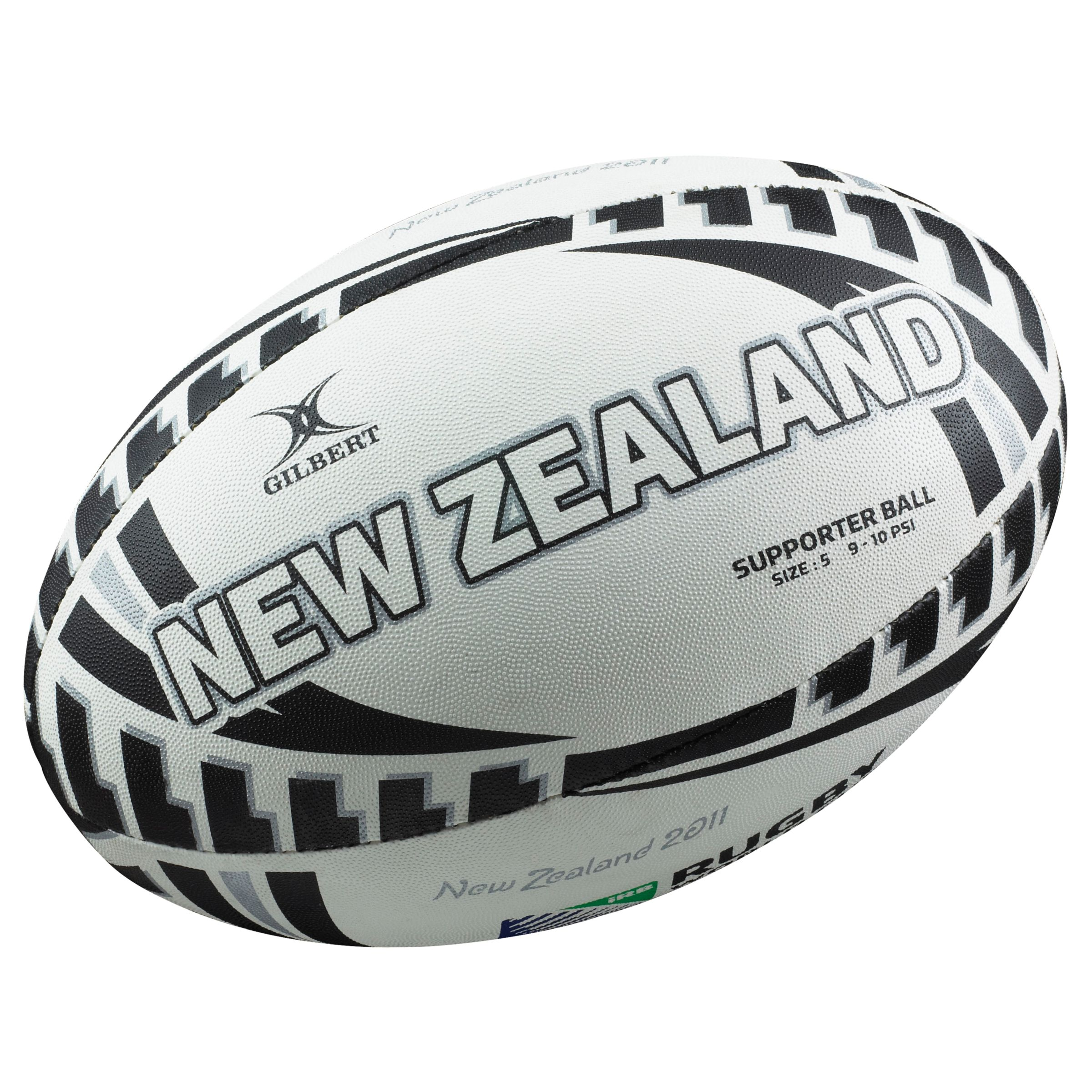 Gilbert Rugby World Cup New Zealand Supporters Ball, Size 5