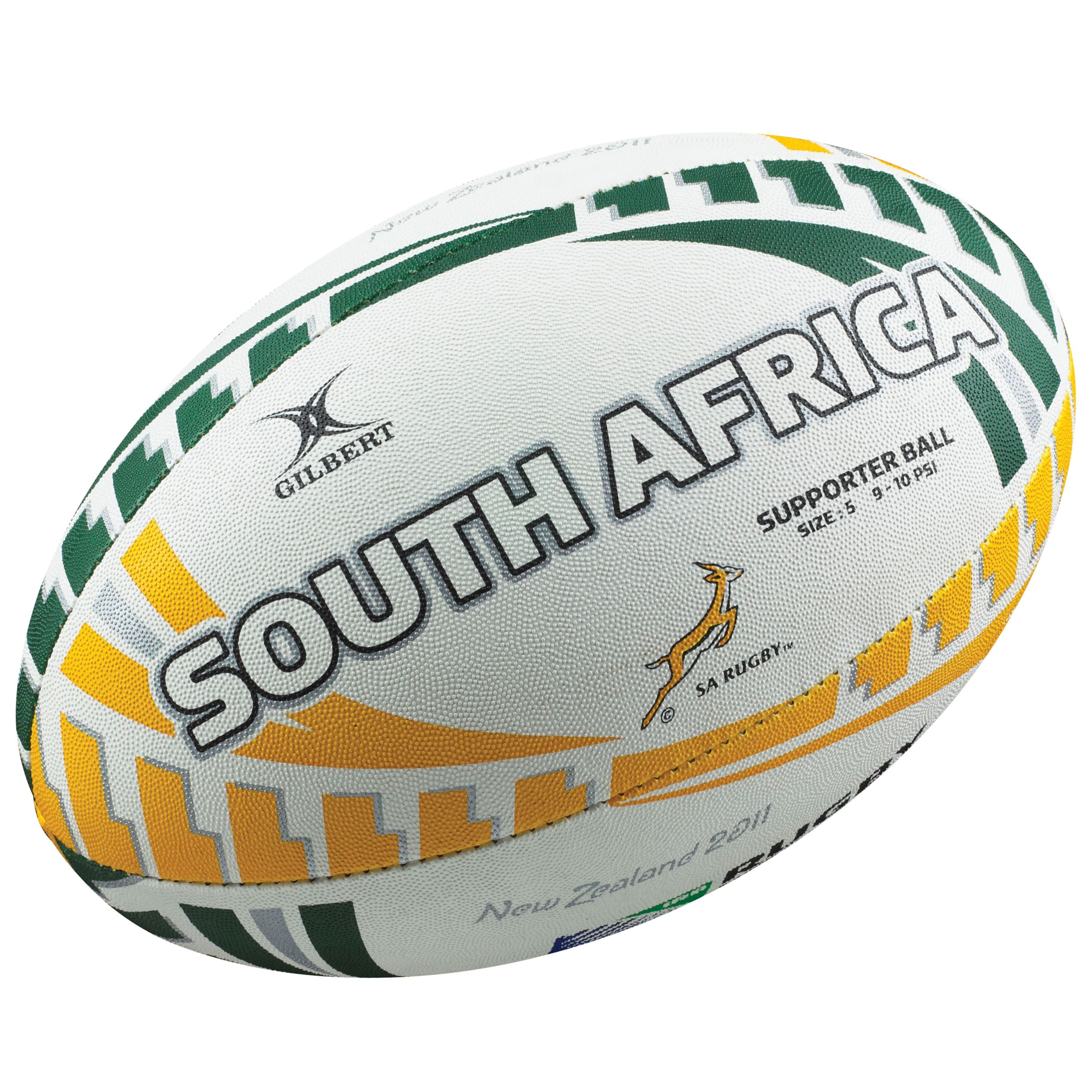 Gilbert Rugby World Cup South Africa Supporters Ball, Size 5