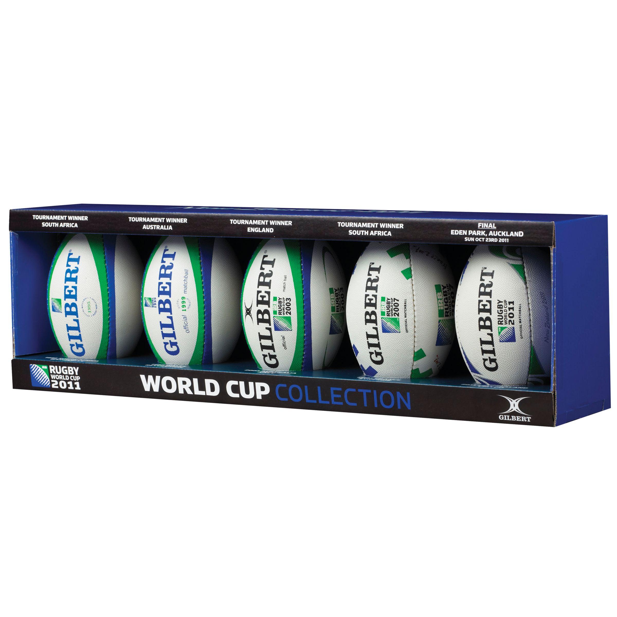 Gilbert Rugby World Cup 1995-2011 Mini Match Set