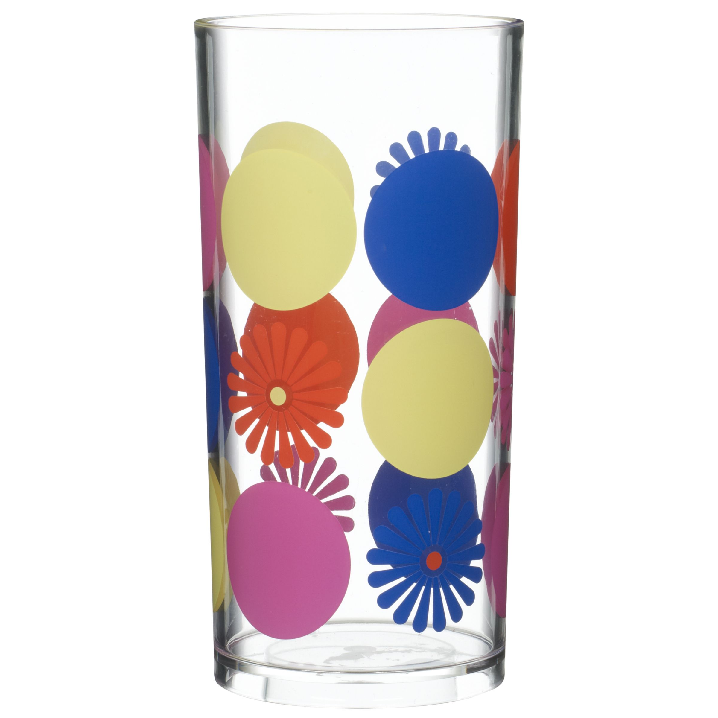 John Lewis Summer Dot Floral Highball