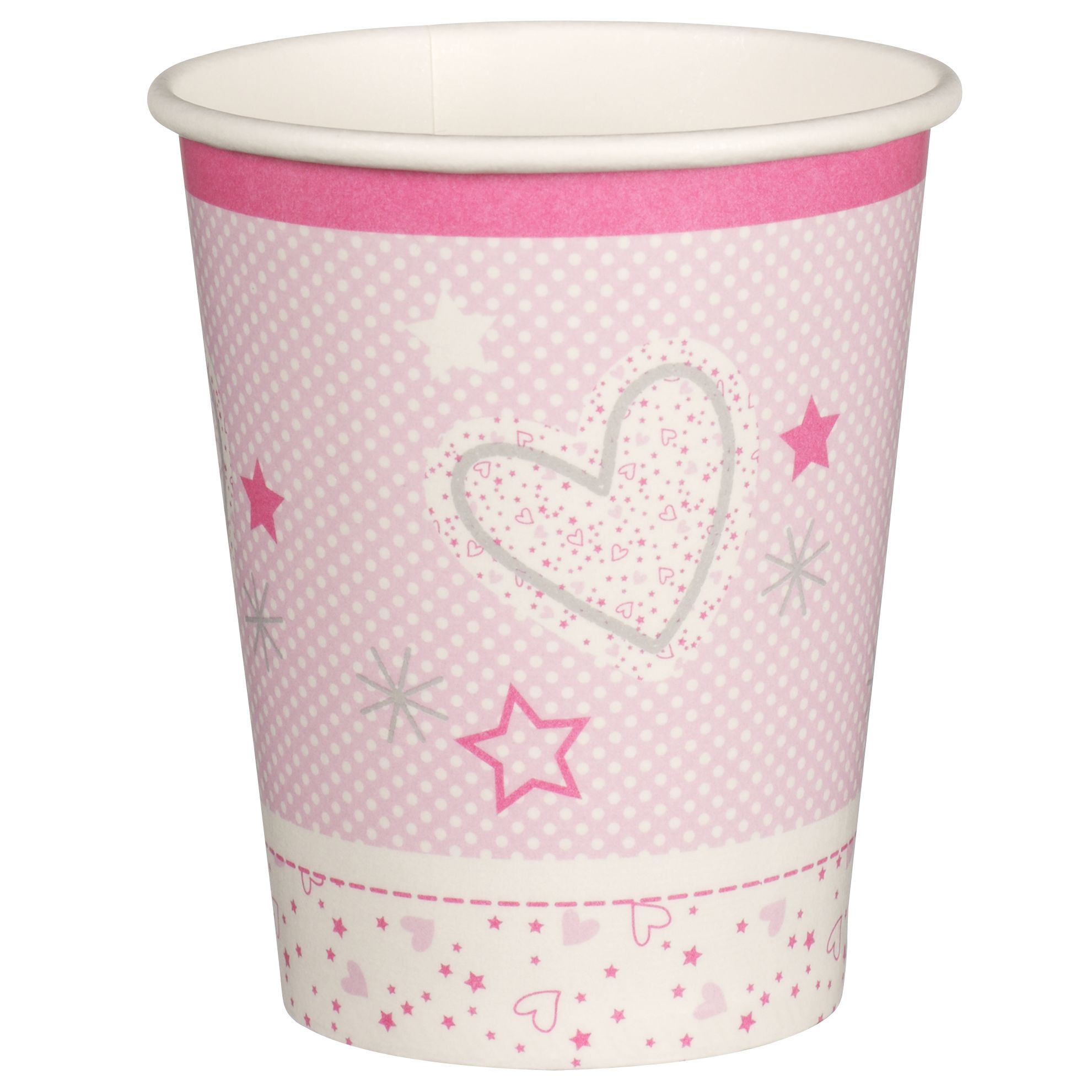 little home at John Lewis, Make a Little Wish, Paper Cups, Pack of 8