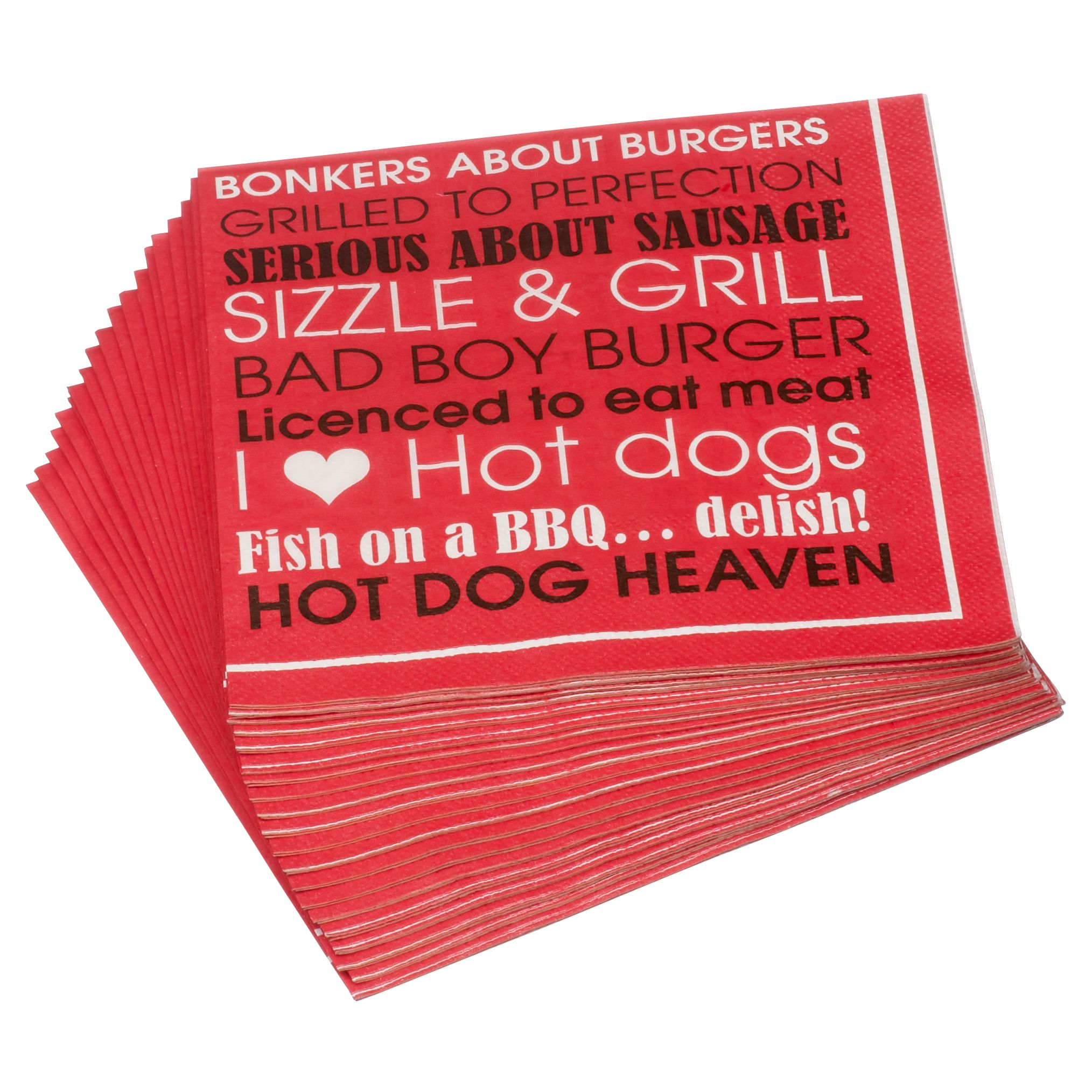 John Lewis Barbecue Napkins, Pack of 20