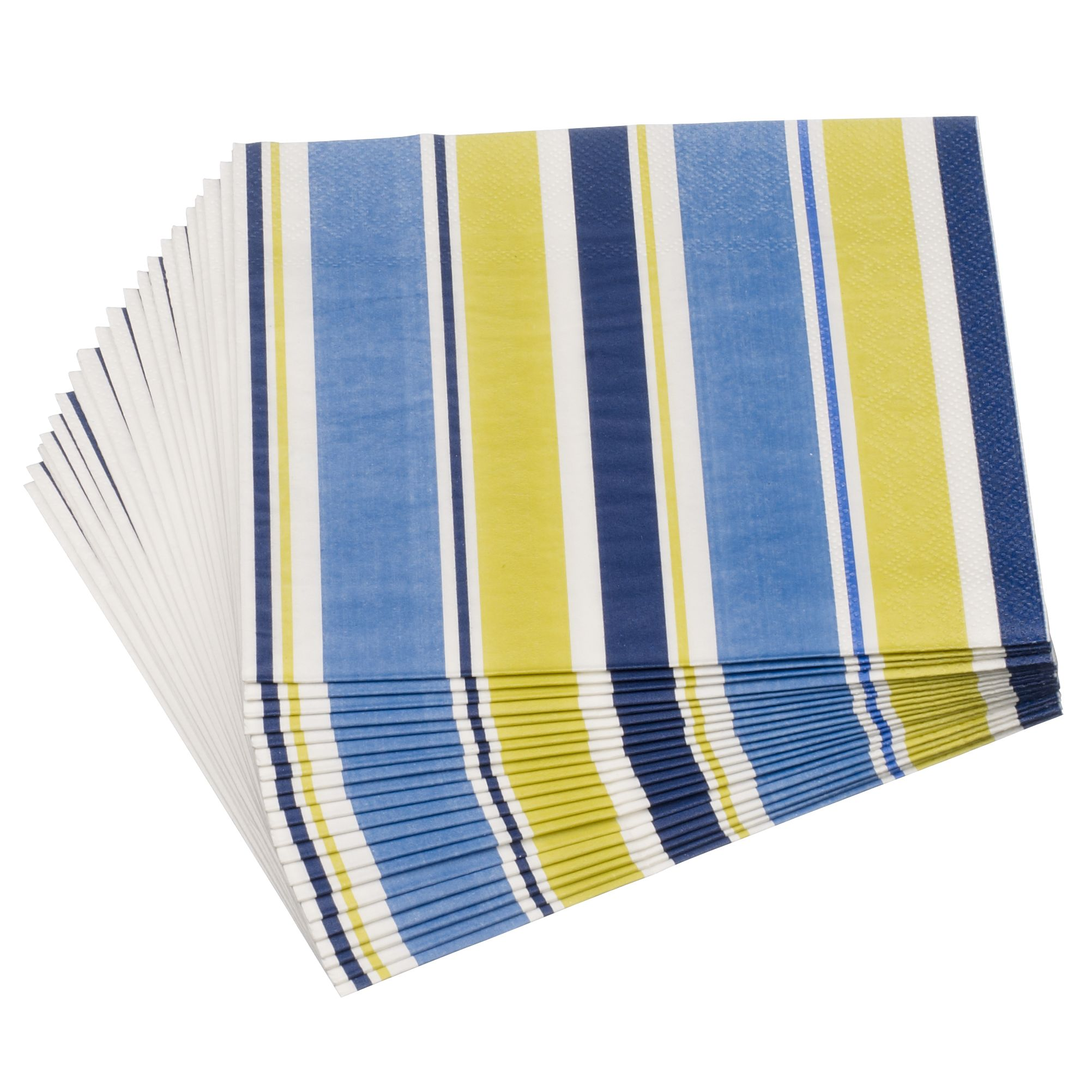 John Lewis Woodland Stripe Napkins, Pack of 20