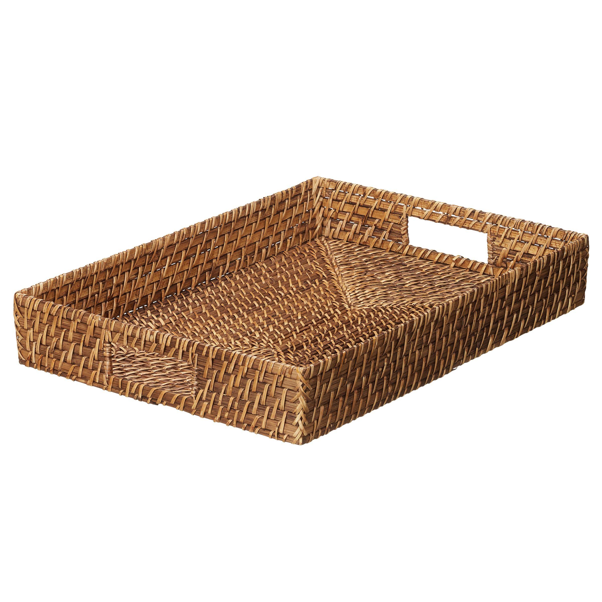 John Lewis Bamboo & Rattan Tray, Nutmeg