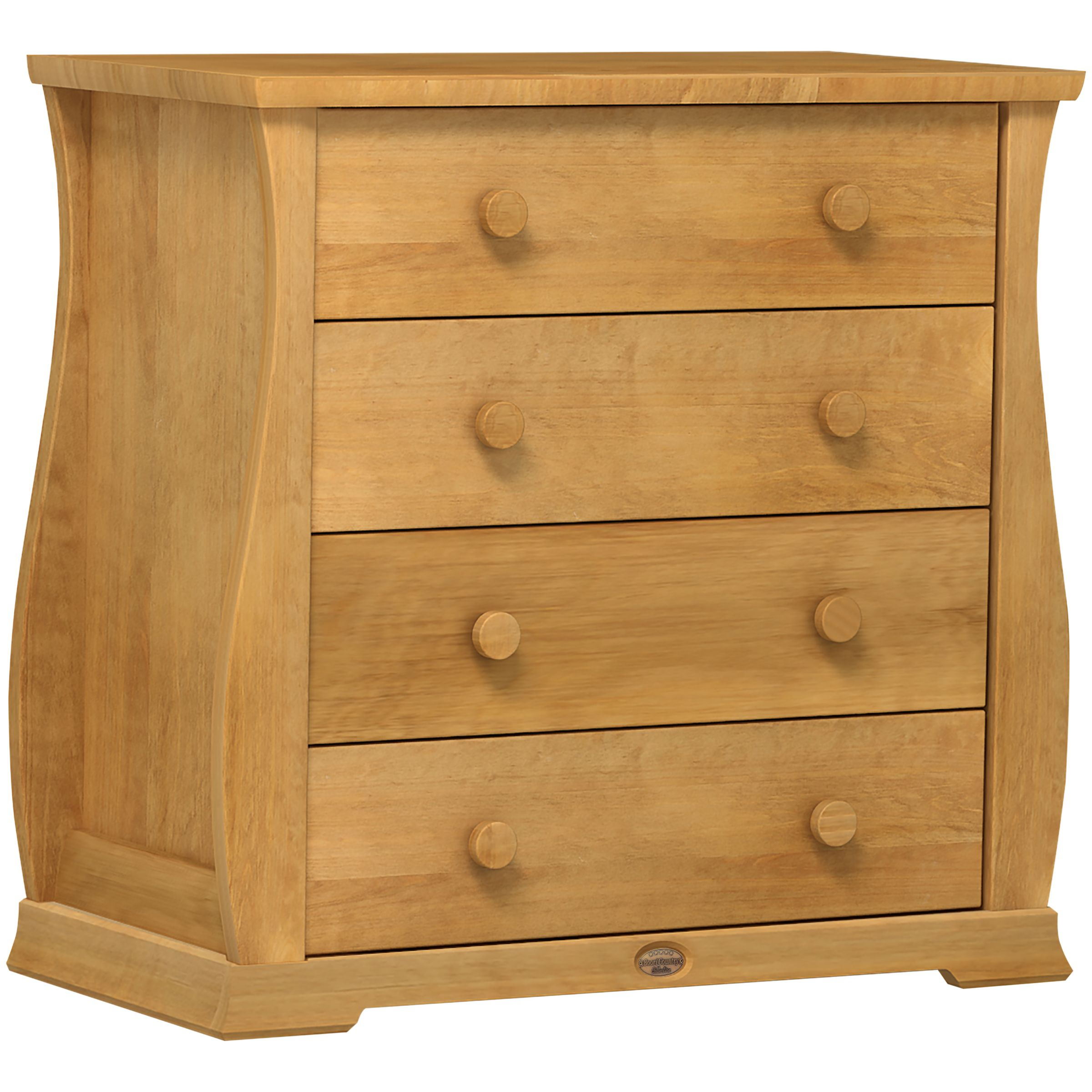Sleigh 4 Drawer Chest, Heritage Teak