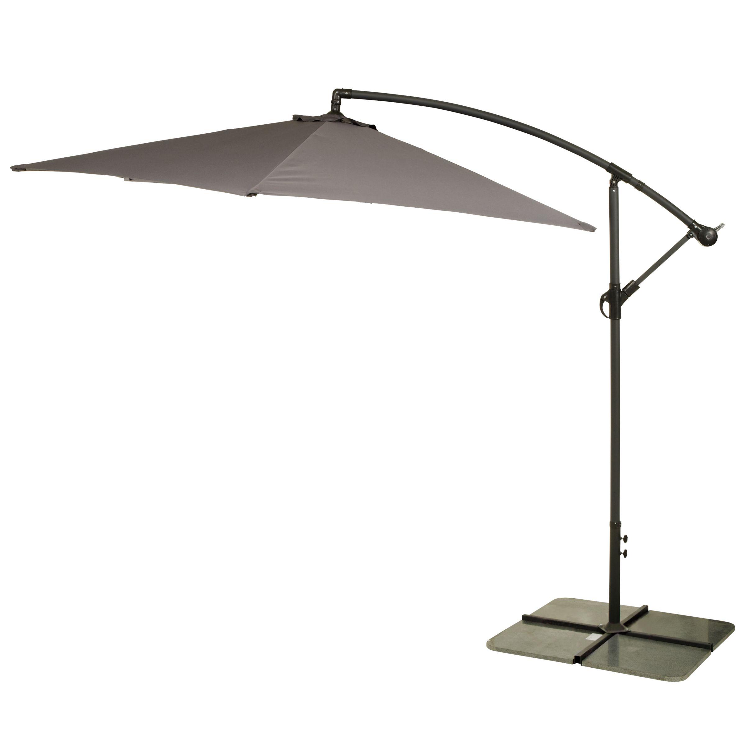 Freestanding Garden Parasol, Grey