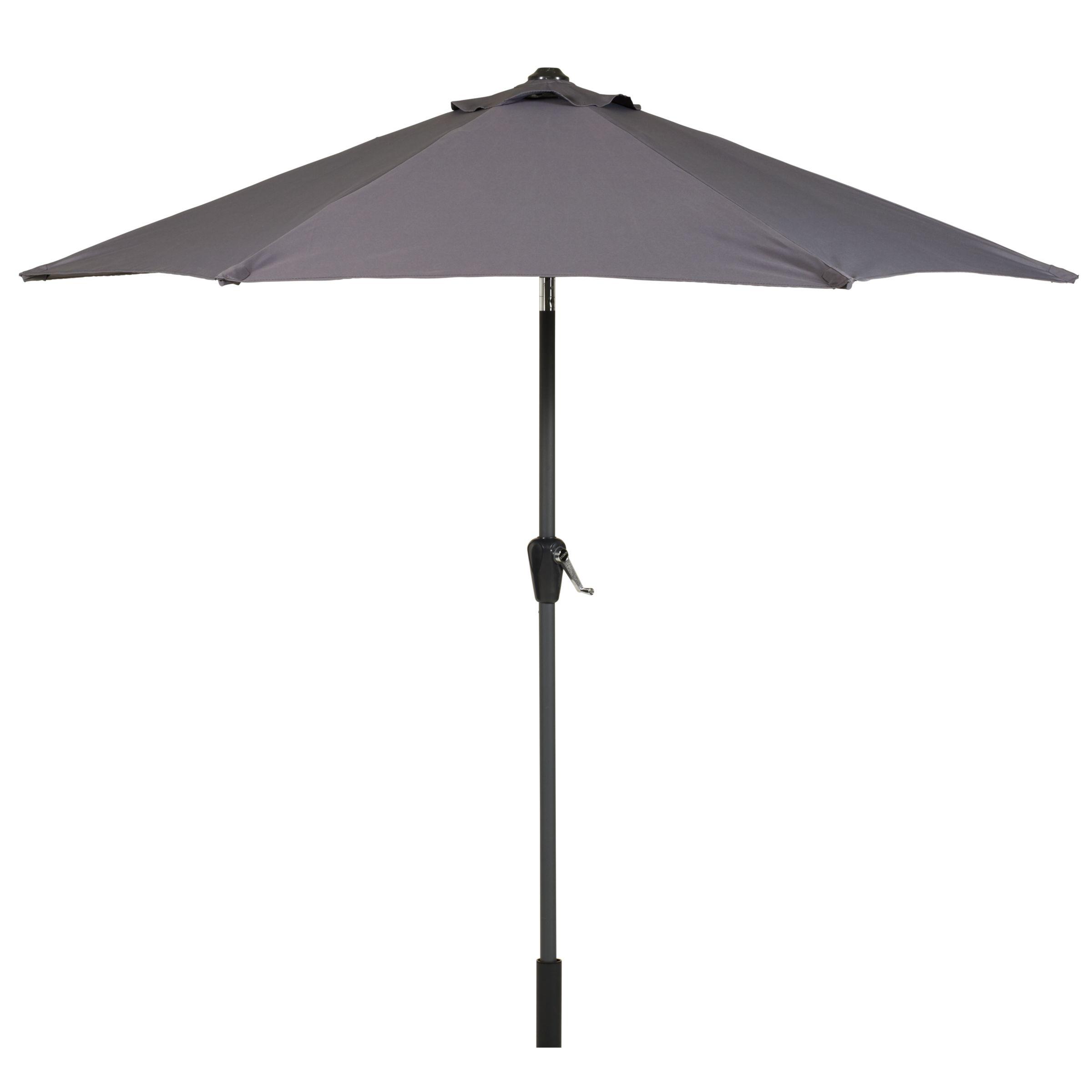 John Lewis Graphite 2.5m Parasol, Grey