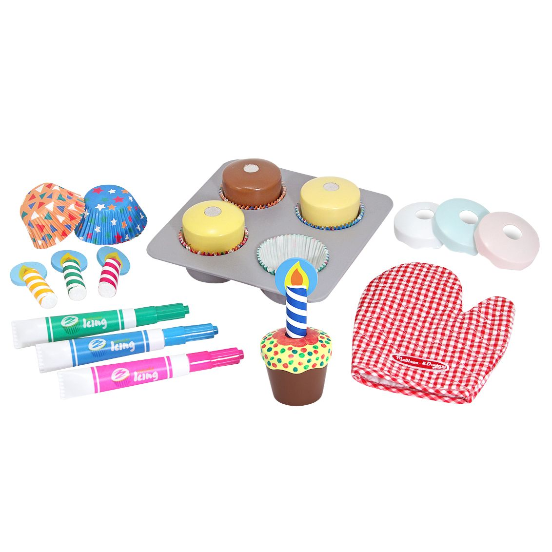Melissa and Doug Bake and Decorate Wooden Cupcake Set