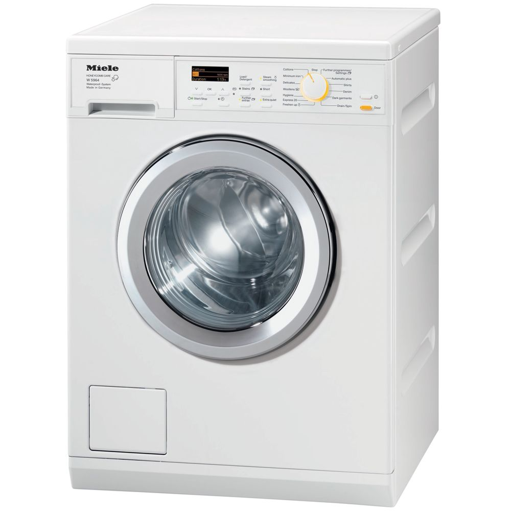Miele W5964 Washing Machine, 8kg Load, A+++ Energy Rating, 1600rpm Spin, White