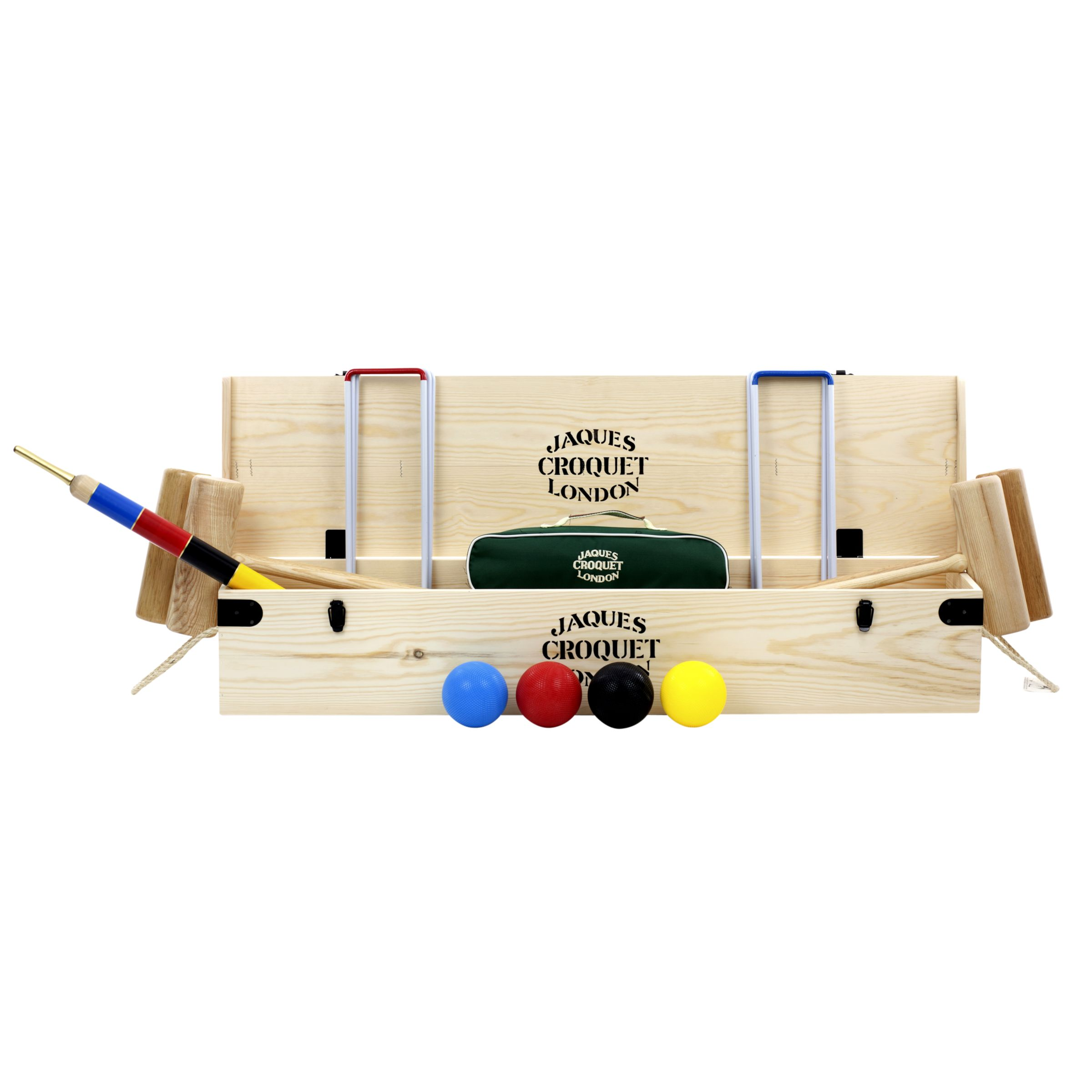 Jaques Winchester Croquet Set, Natural/Multicoloured