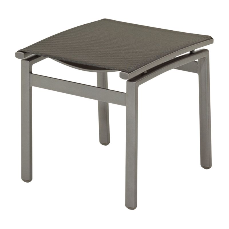 Gloster Azore Outdoor Footstool, Slate / Charcoal