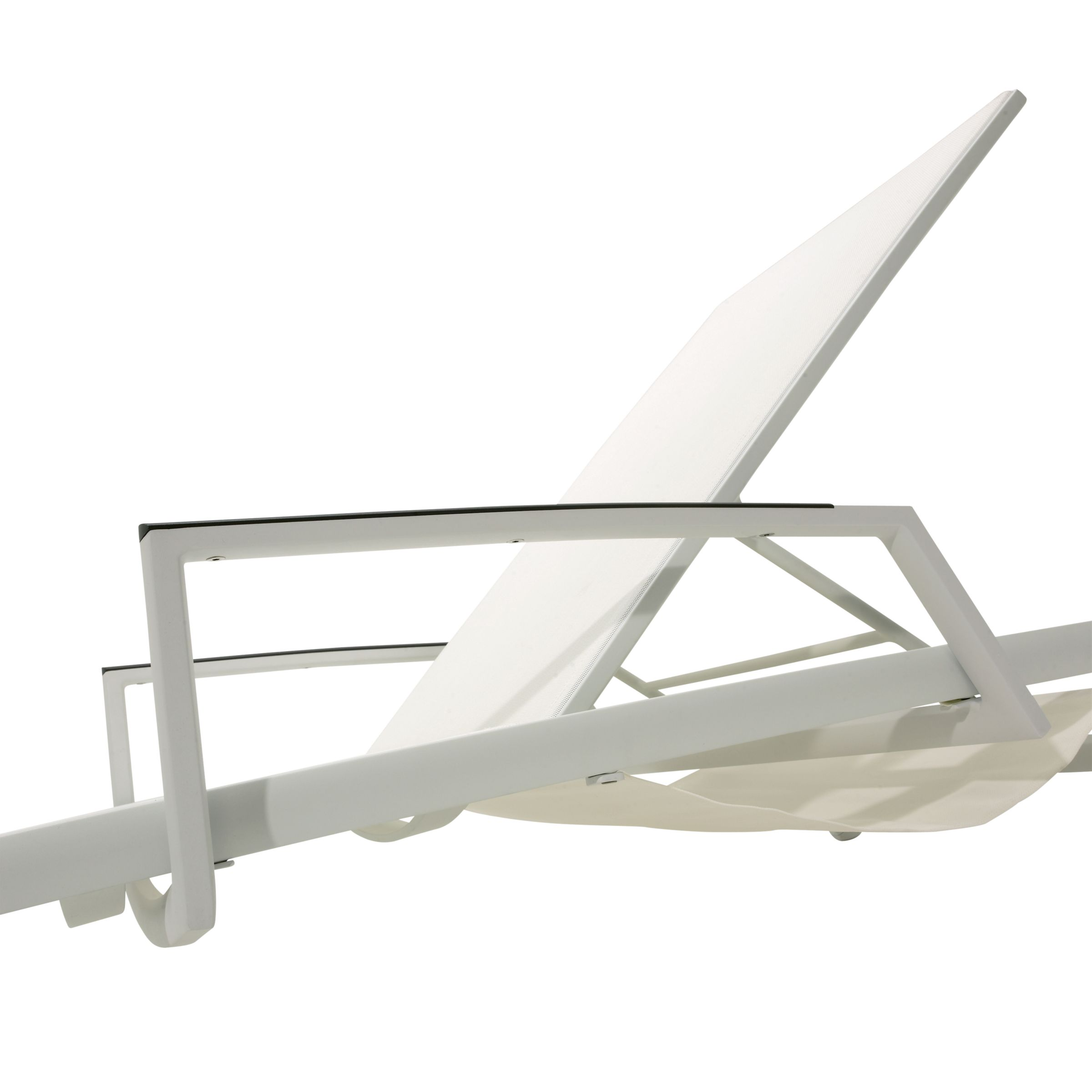 Gloster Azore Stacking Lounger Arms, Frost
