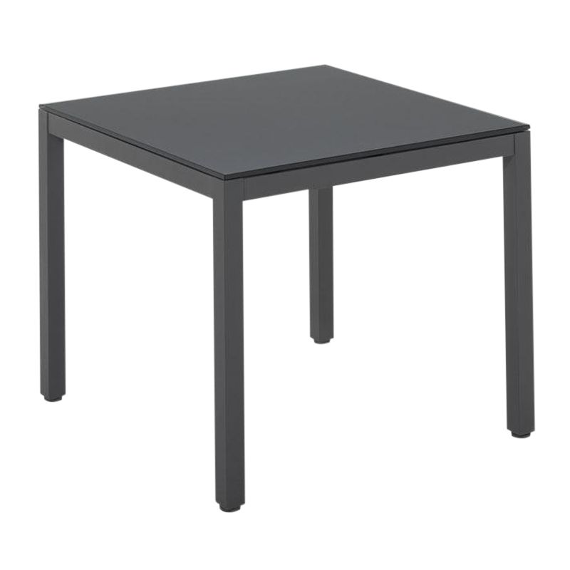 Gloster Azore Square Outdoor Table, Slate / Glass