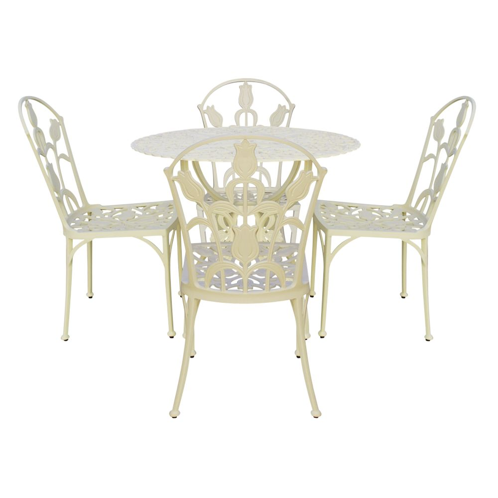 RHS Tulipamania Table Set, Purissima, 90cm