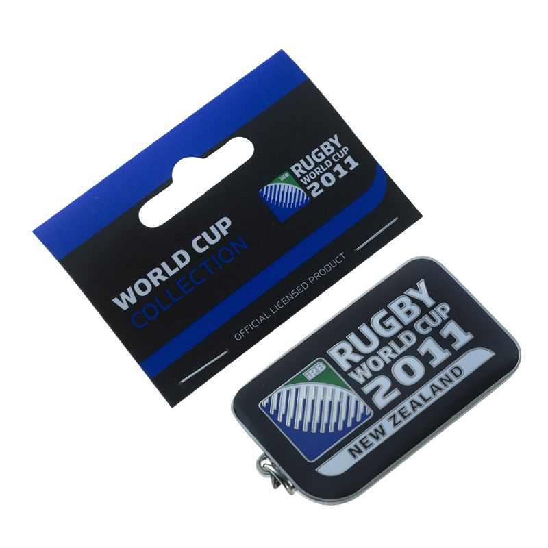 Rugby World Cup Black Logo Keyring