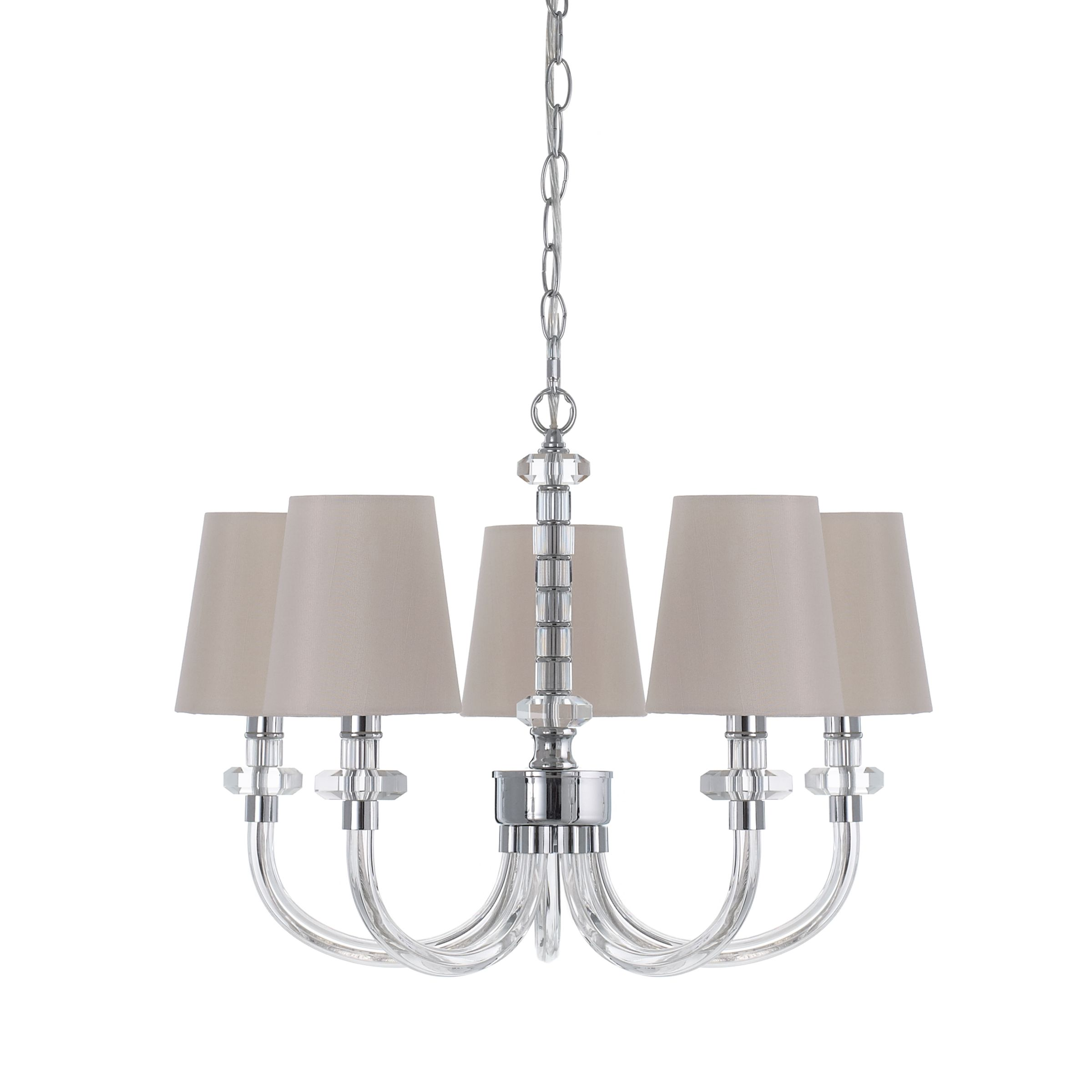 Ceiling Light 5 Arm Chrome : John lewis darcey ceiling light arm review compare