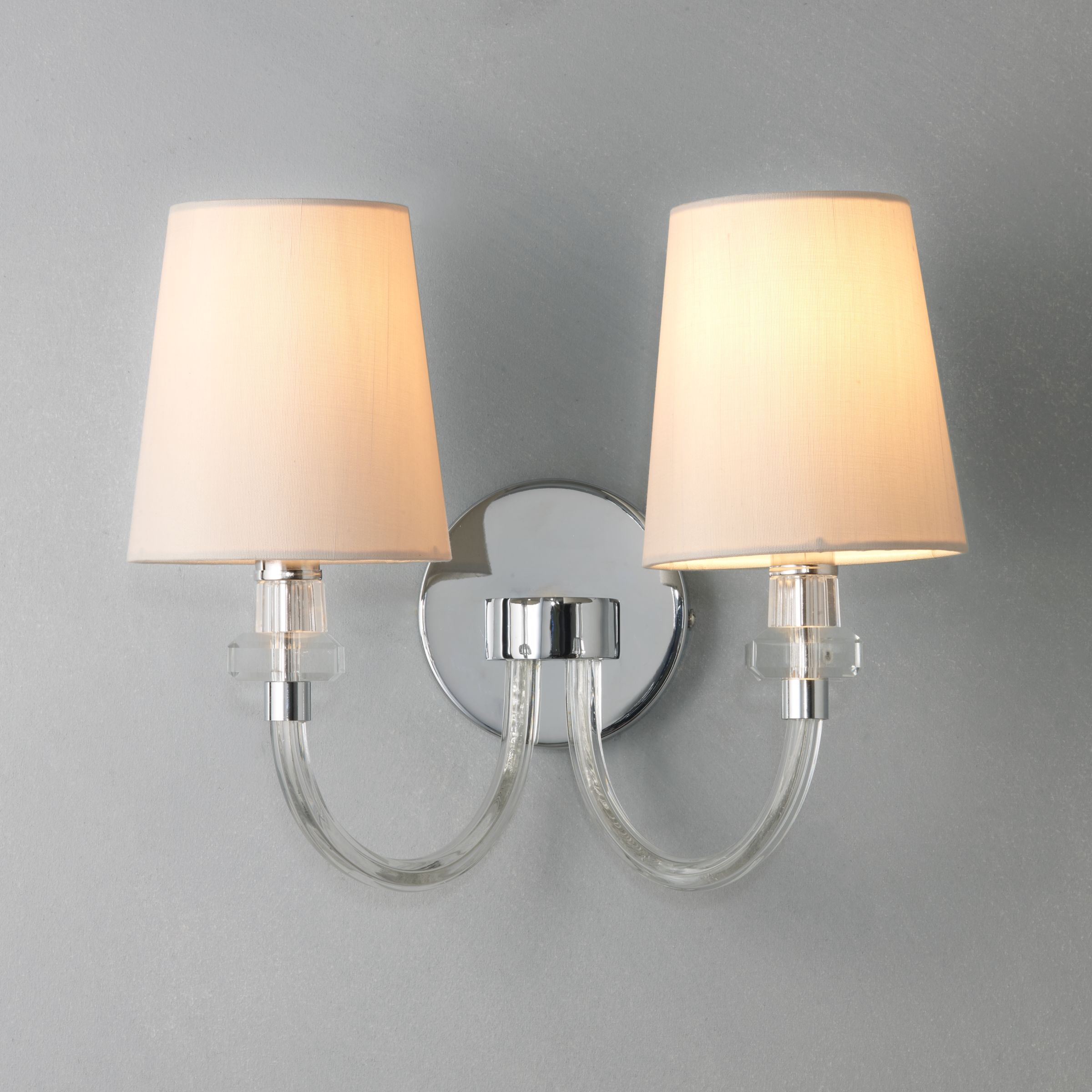 John Lewis Wall Lamp Shades : John Lewis Darcey Wall Light, 2 Light - review, compare prices, buy online