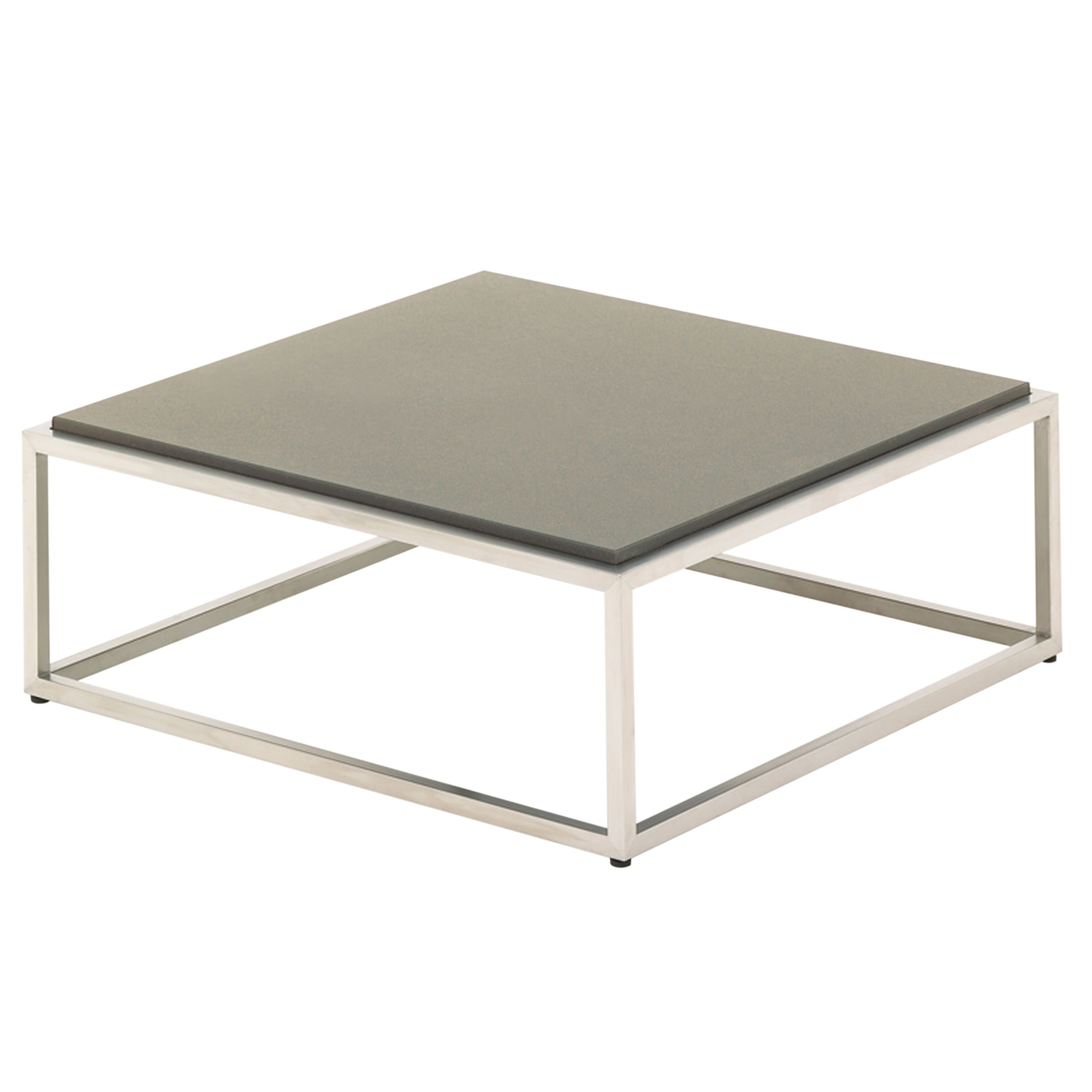 Gloster Cloud 75 x 75 Coffee Table, Quartz Top, Taupe