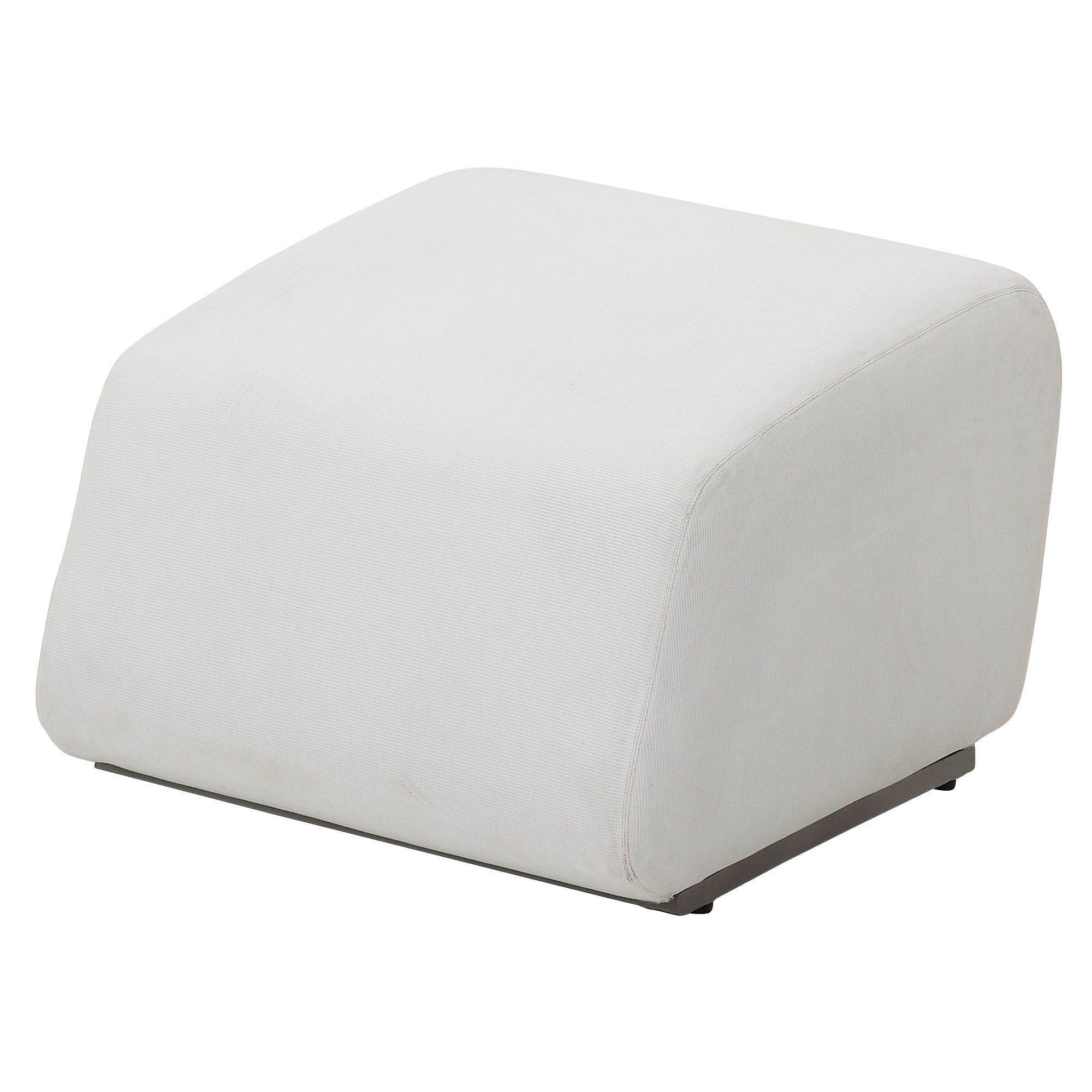 Gloster Club Outdoor Ottoman, Ivory