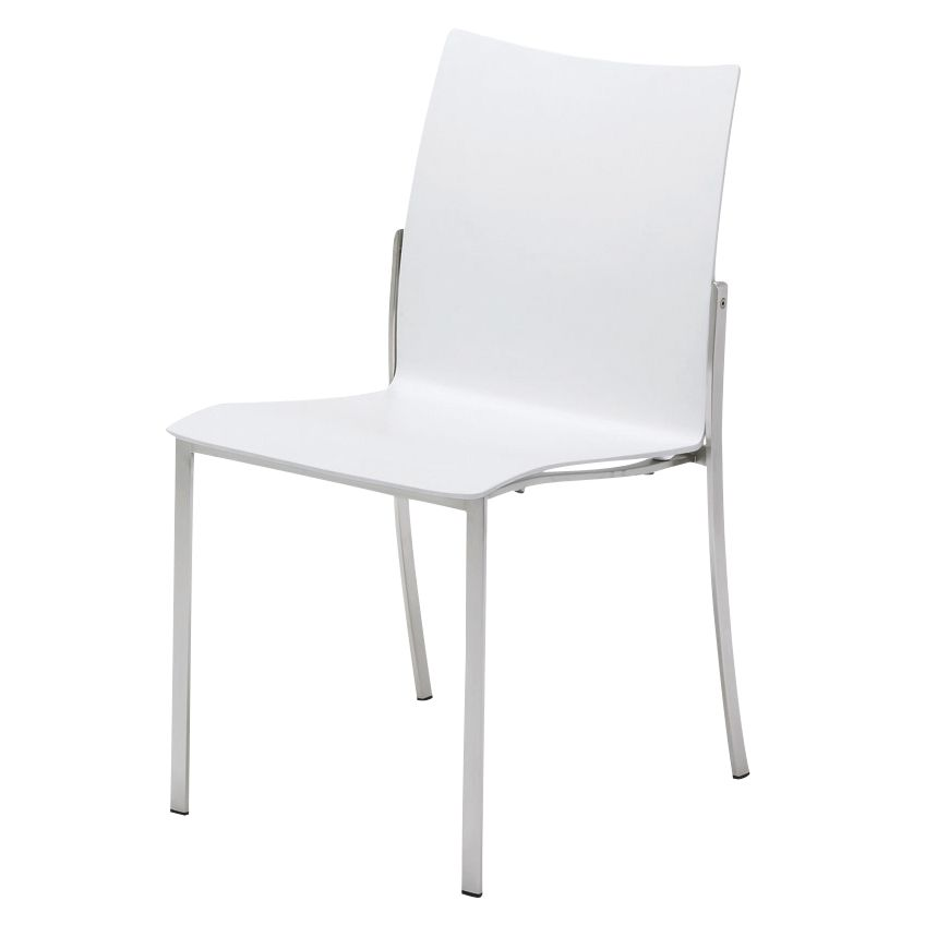 Gloster Fusion Shell Stacking Chair, White