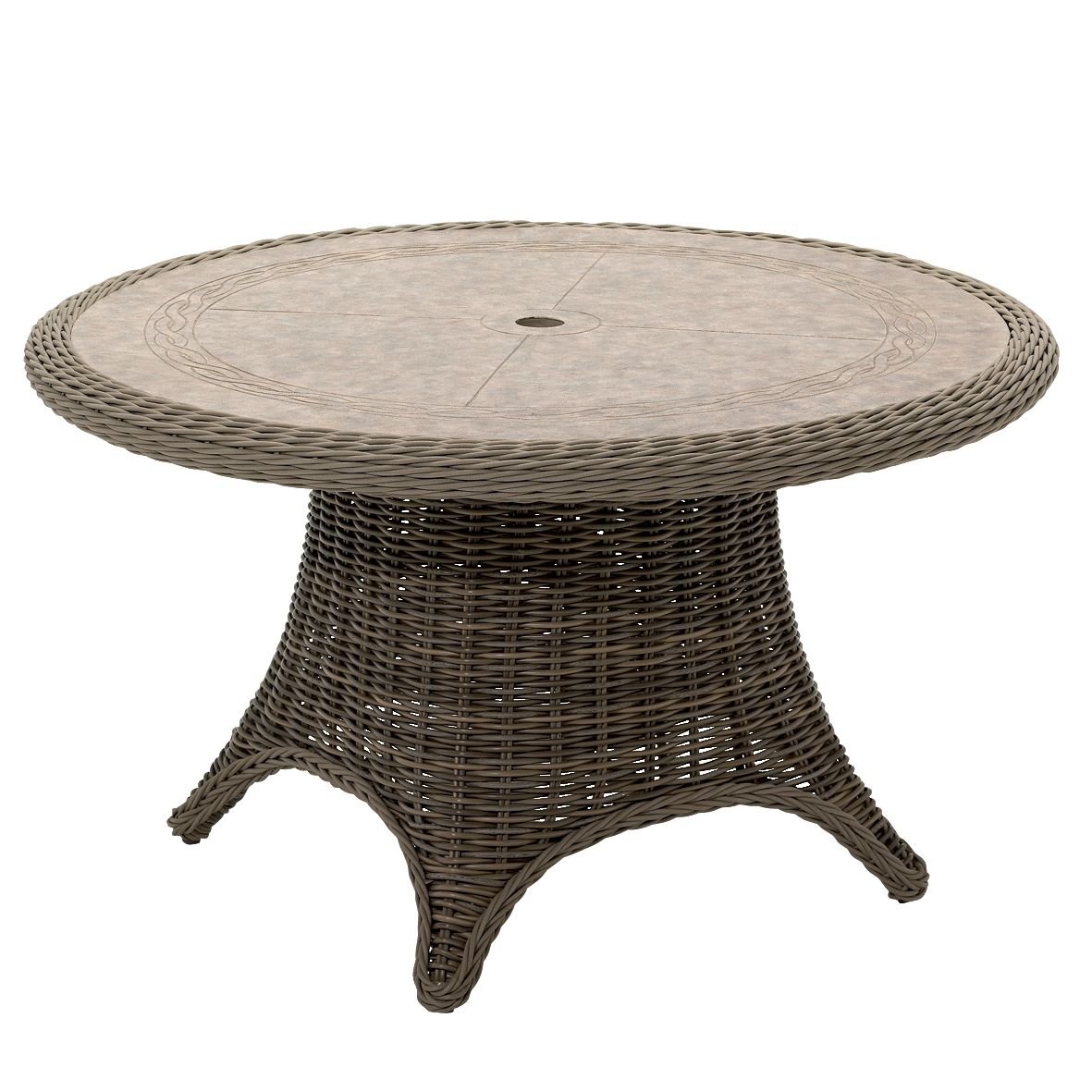 Gloster Havana Round Outdoor Table, Willow