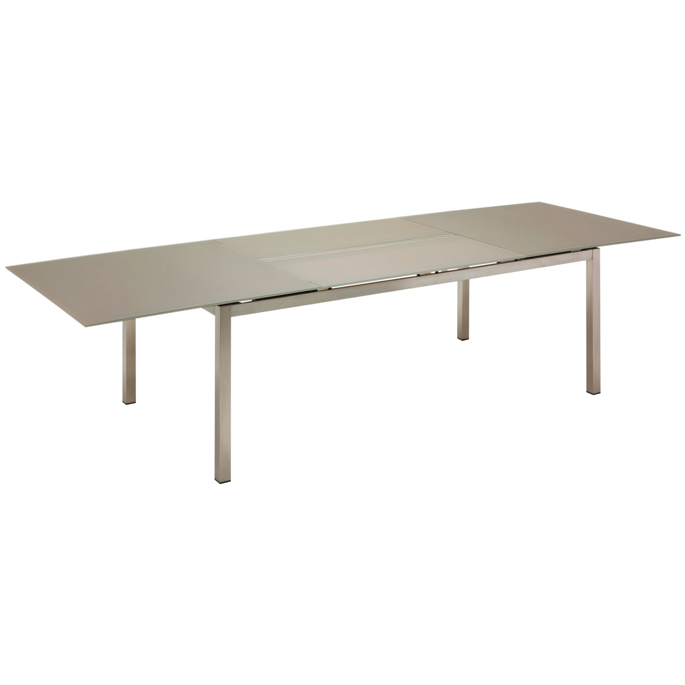 Gloster Kore Large Extending Table, Taupe Glass