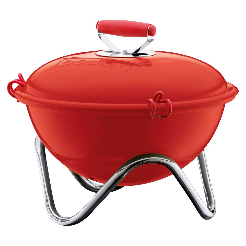 Bodum Fyrkat Barbecue Picnic Charcoal Grill, Red