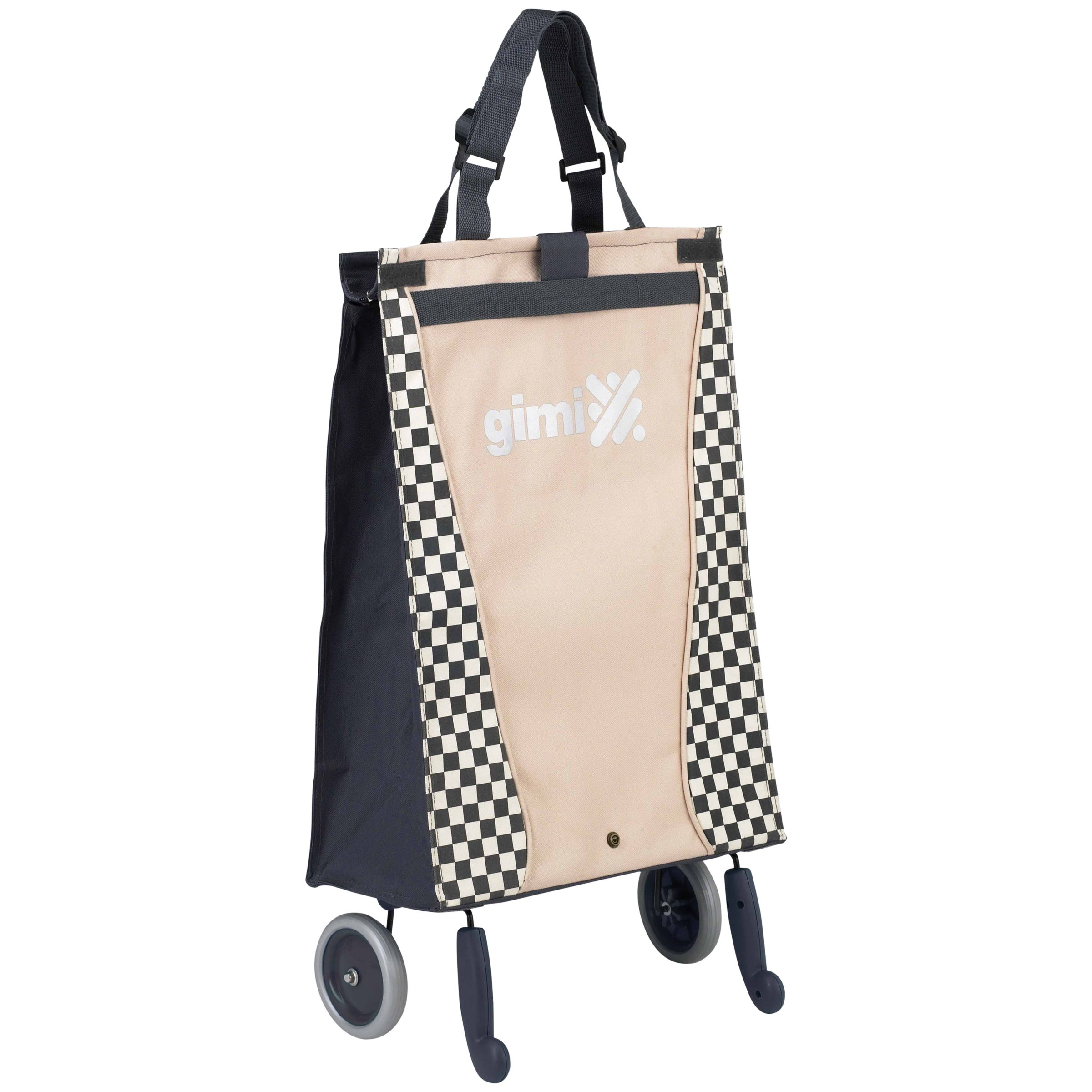 Gimi Bella 2-Wheel Foldable Shopping Trolley, Navy