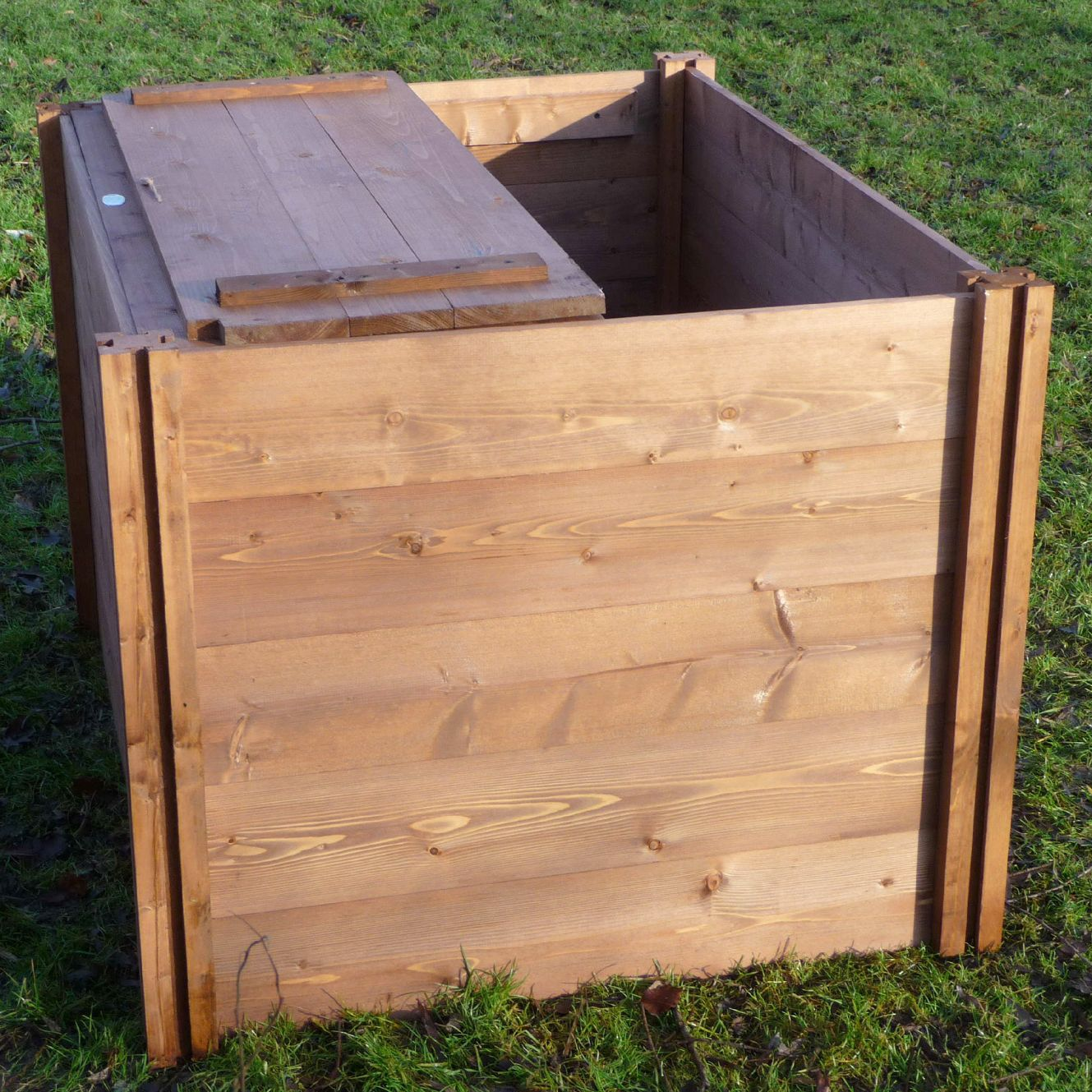 The Big Square Wooden Modular Compost Bin