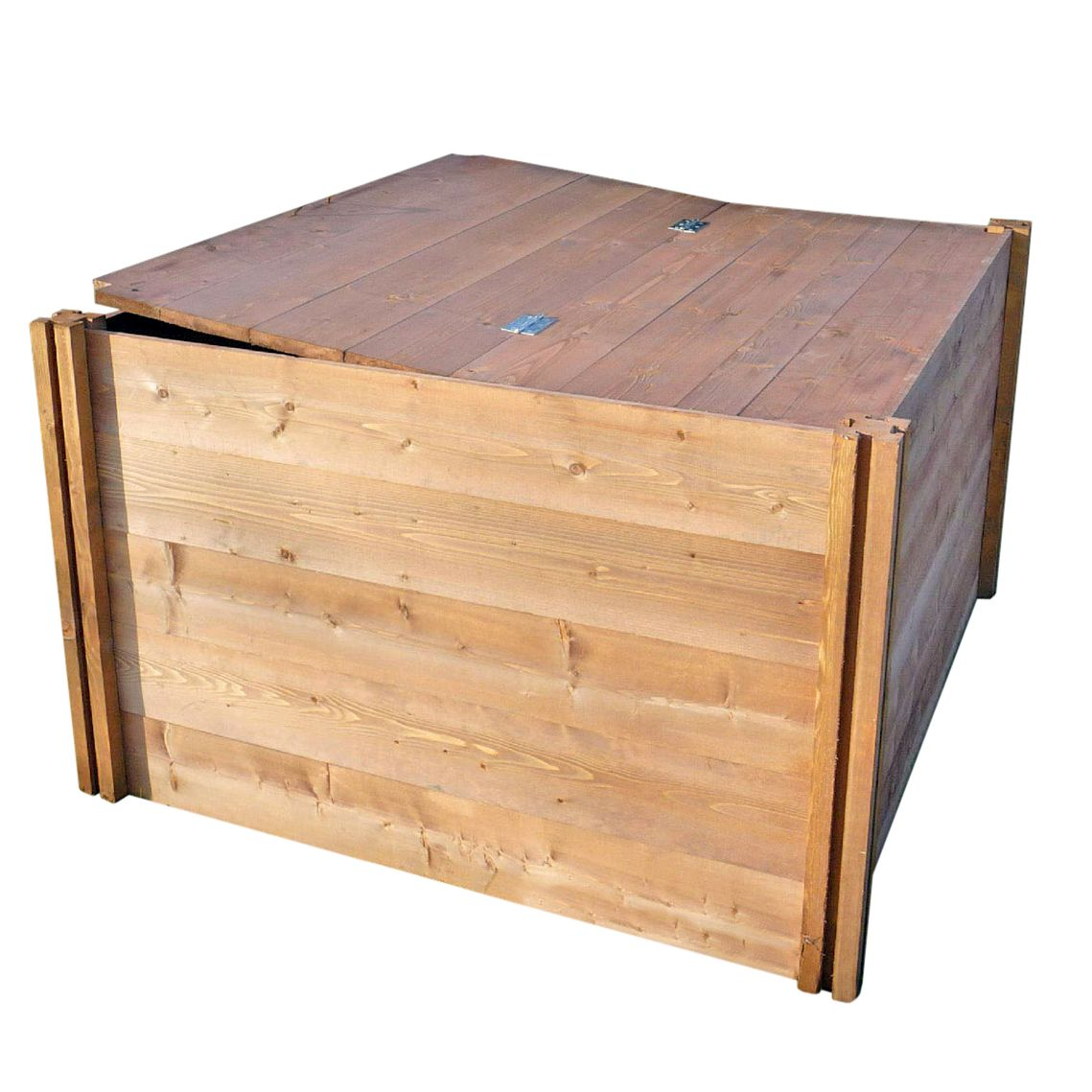 The Big Square Wooden Compost Bin Lid