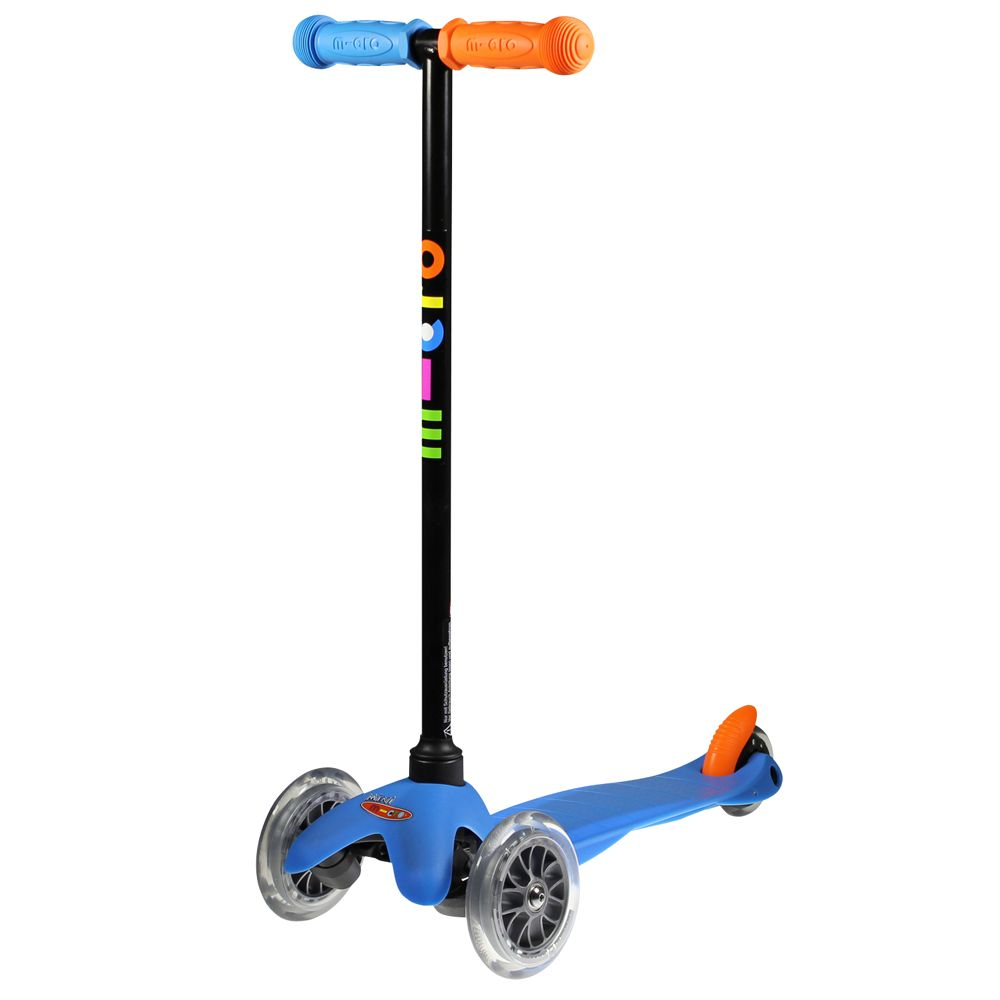 Mini Micro T-Bar Scooter, Neon Blue
