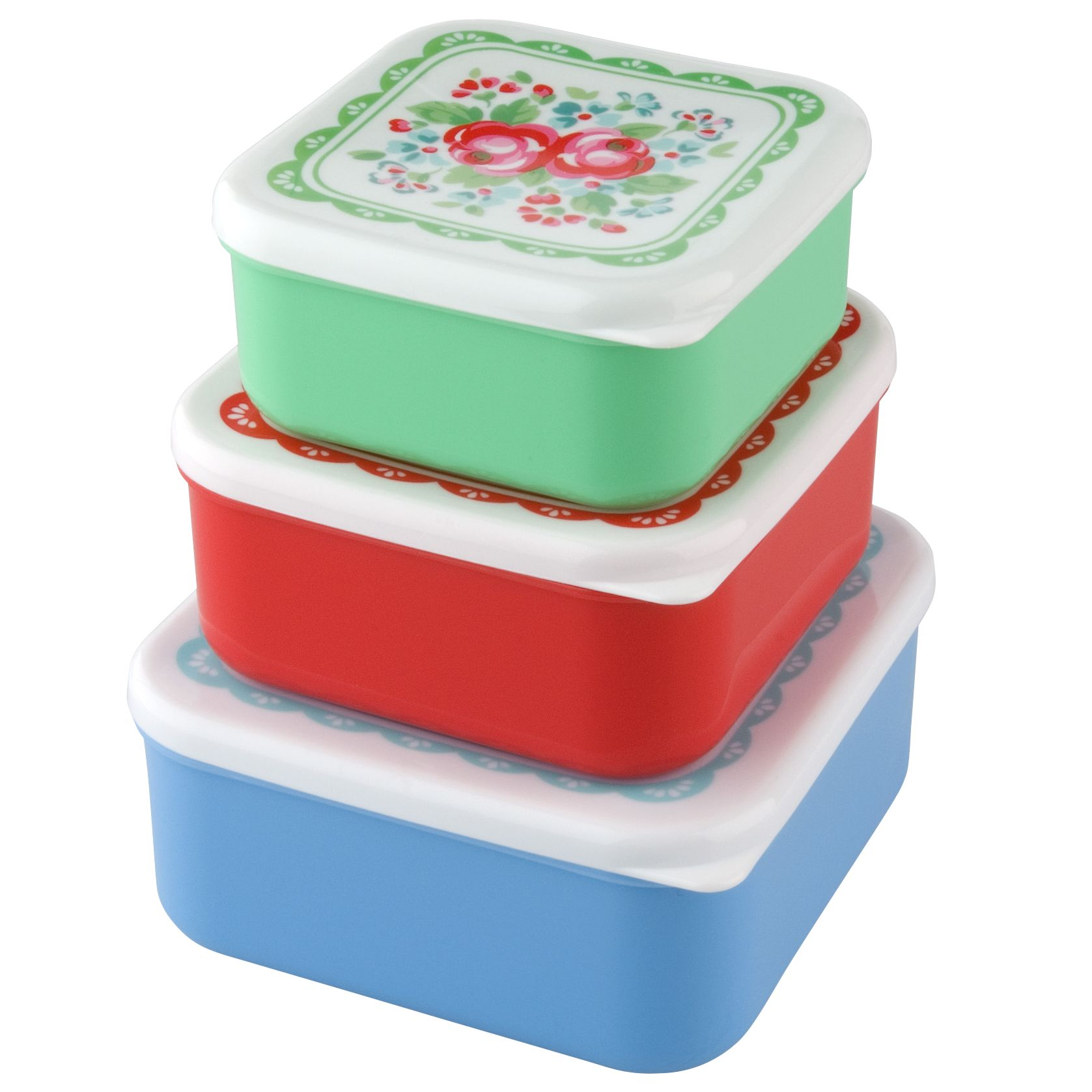 Cath Kidston Sandwich Boxes, Set of 3, Spray Flowers