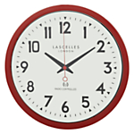Roger Lascelles Radio Controlled Wall Clock, Red