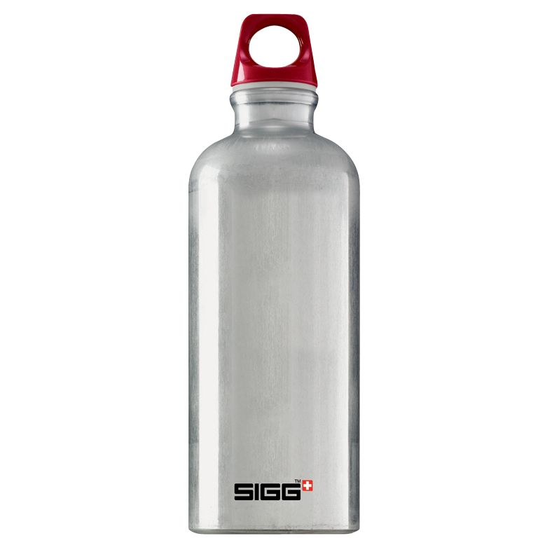Sigg Sports Bottle, 0.6L, Silver/Red