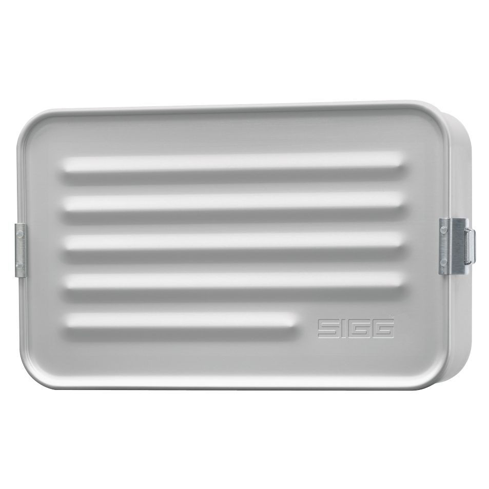 Sigg Aluminium Lunch Box, Large, Silver