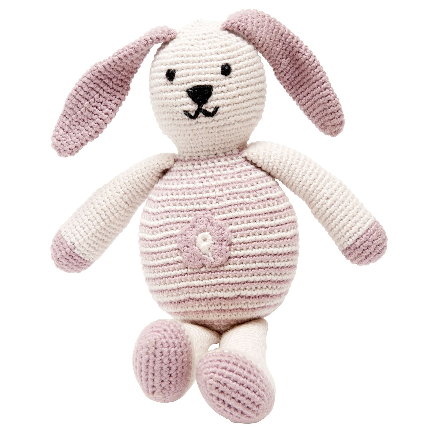 Pebble Fair Trade Organic Cotton Bunny, Pink