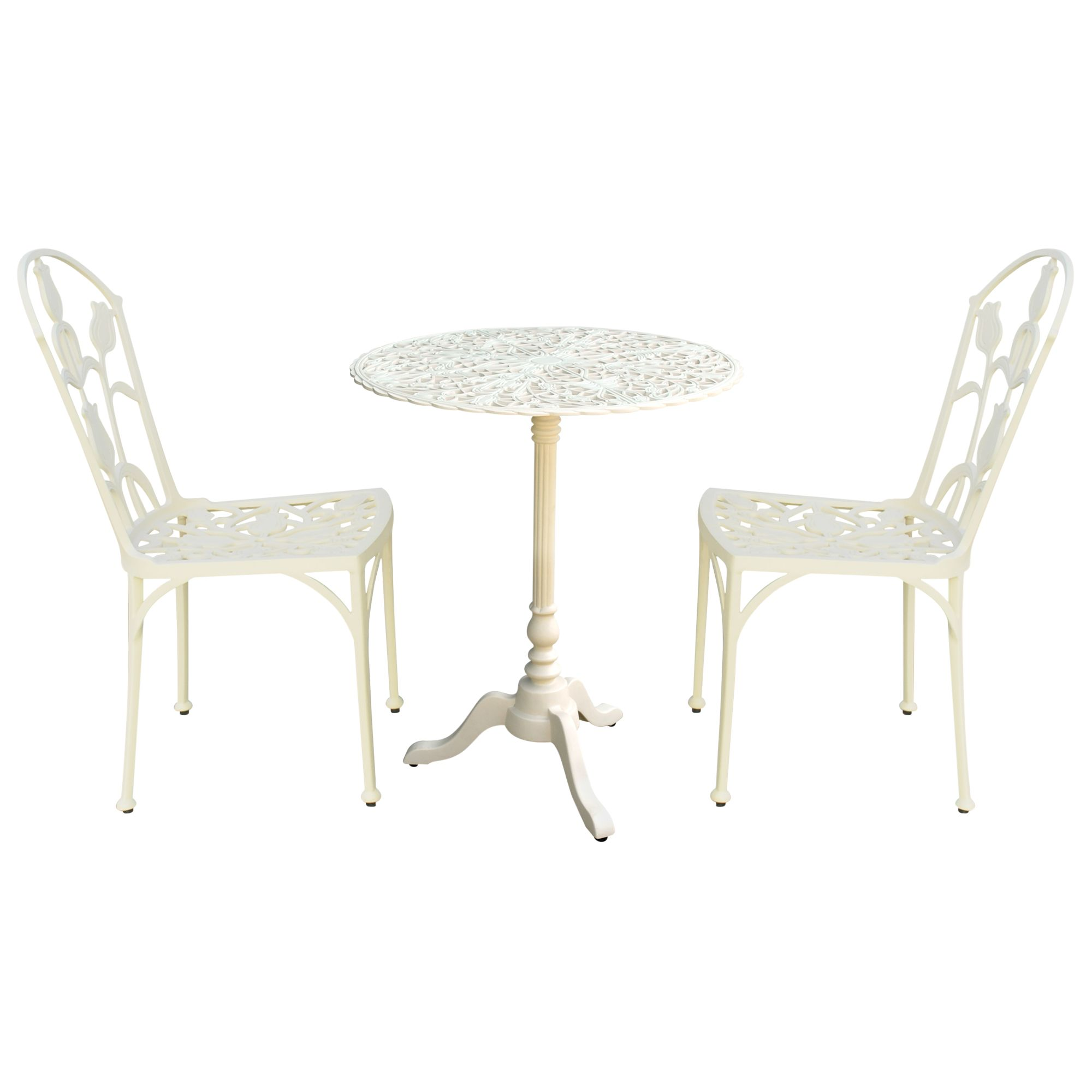 RHS Tulipamania Pedestal Table Set, Purissima, 60cm